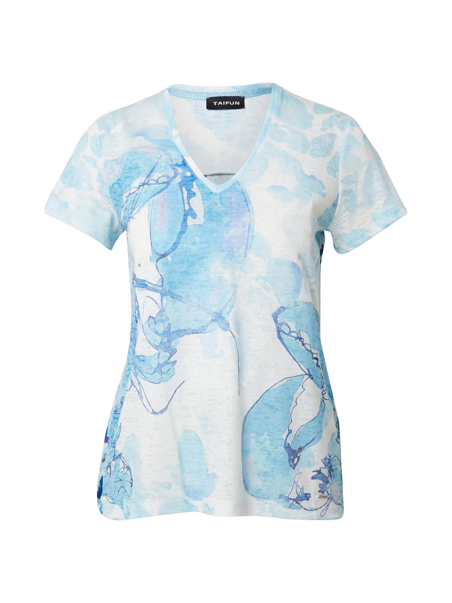 TAIFUN Marškinėliai mėlyna / balta