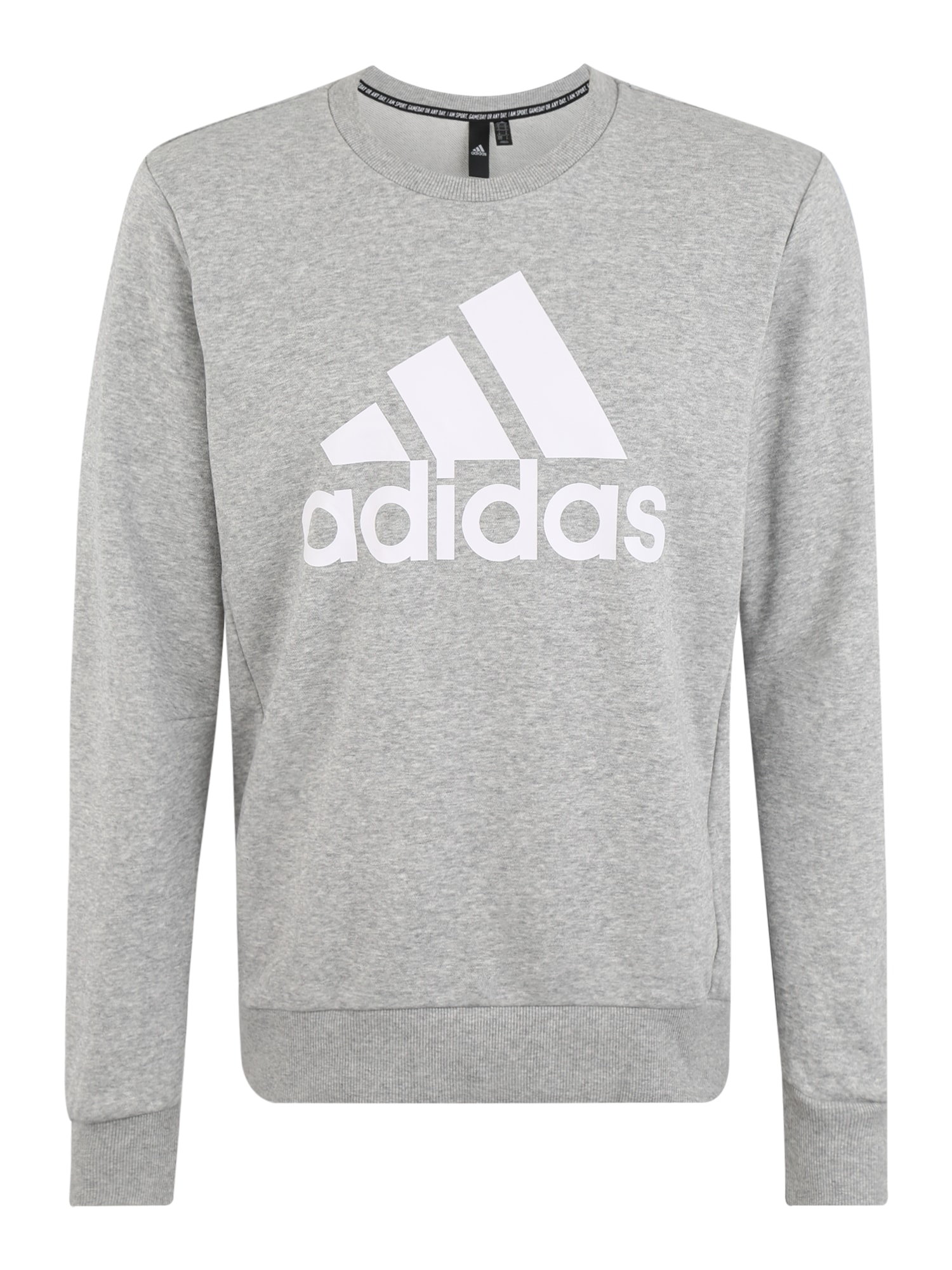 ADIDAS PERFORMANCE Sportinio tipo megztinis balta / margai pilka
