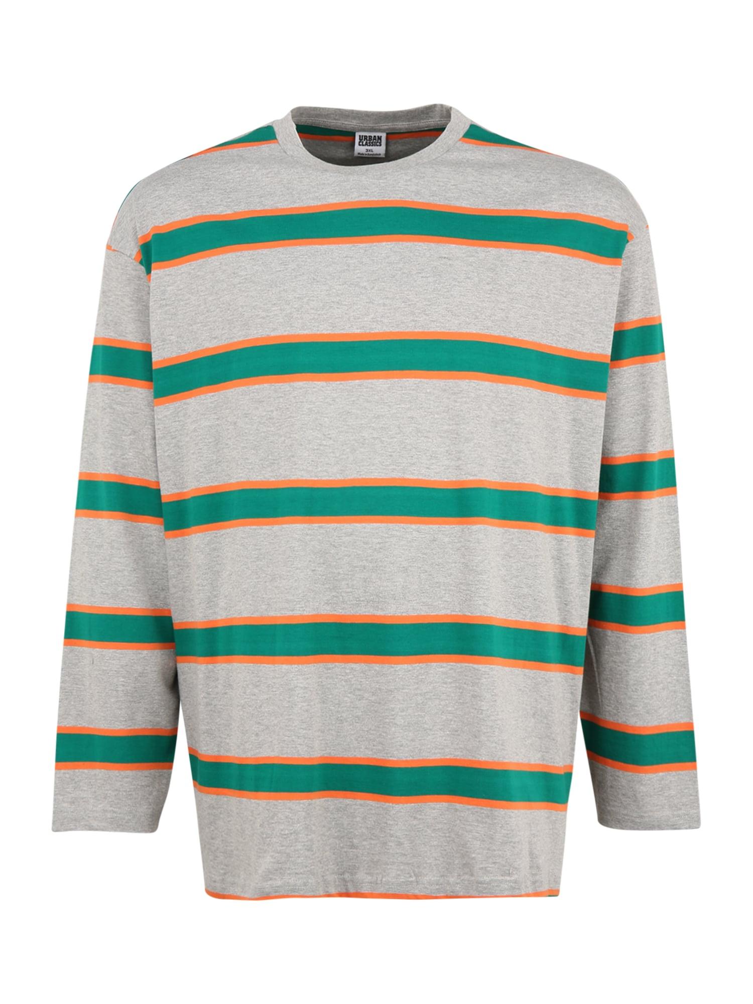 Urban Classics Plus Size Marškinėliai šviesiai pilka / oranžinė / žalia