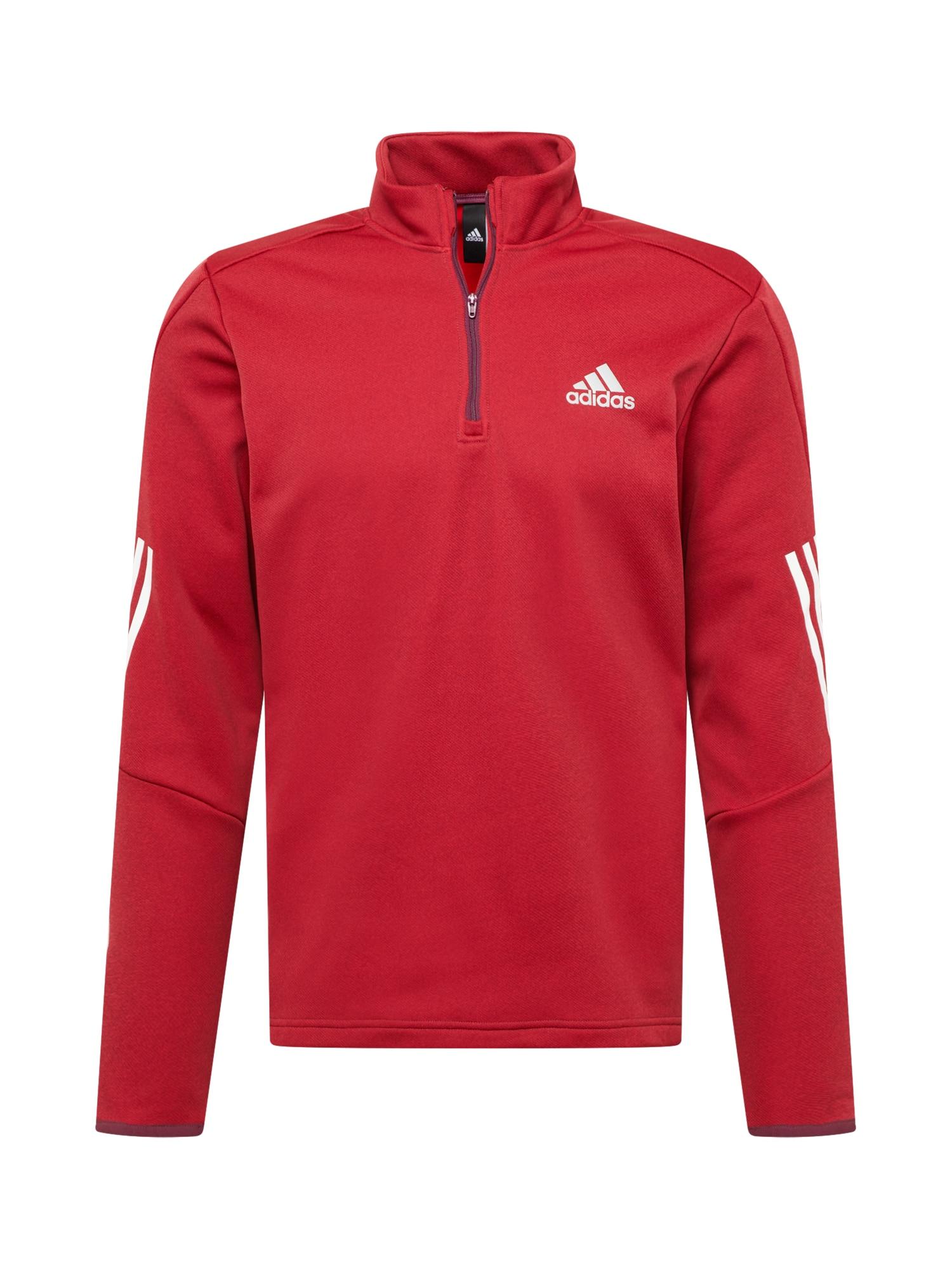 ADIDAS PERFORMANCE Funkční tričko  červená / bílá / šedá