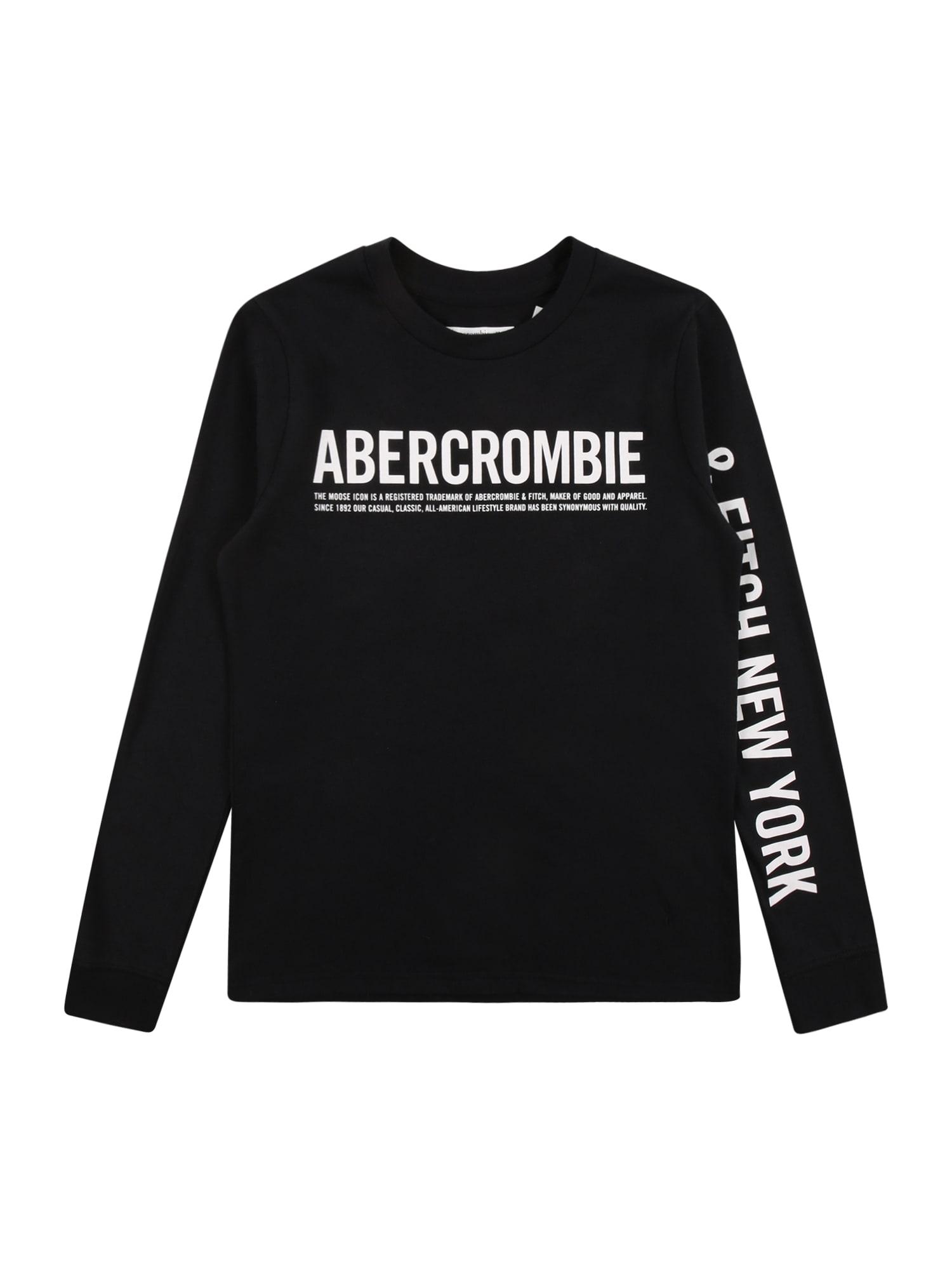 Abercrombie & Fitch Marškinėliai 'HIKE BEAST' juoda / balta