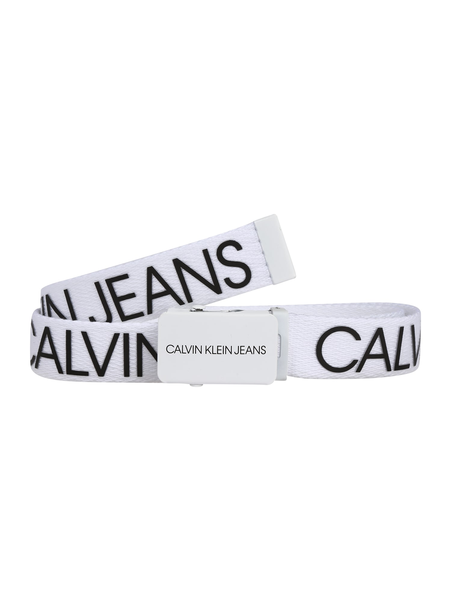 Calvin Klein Jeans Diržas balta / juoda