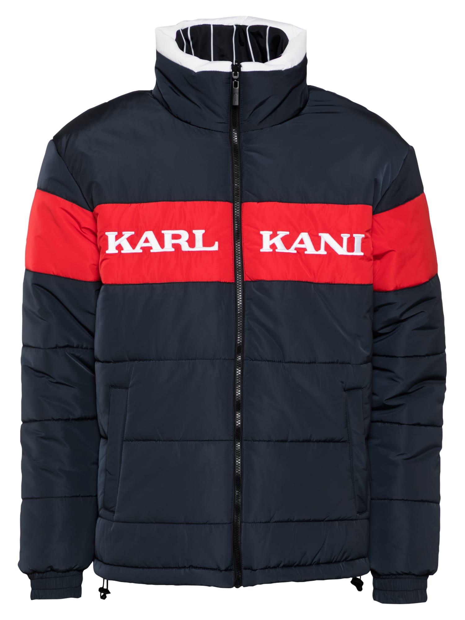 Karl Kani Zimní bunda ' Retro Block Reversible Puffer '  modrá