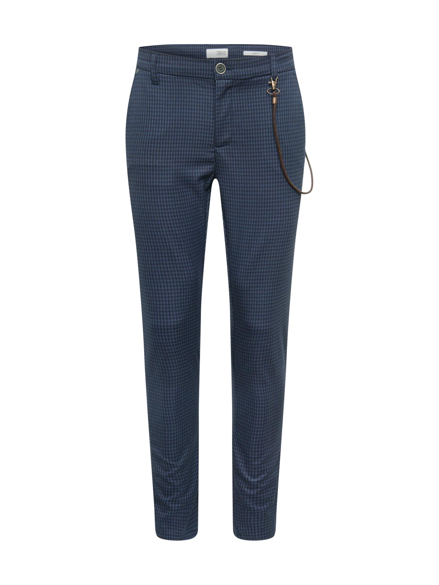 !Solid Chino kalhoty 'Travis'  nebeská modř / marine modrá