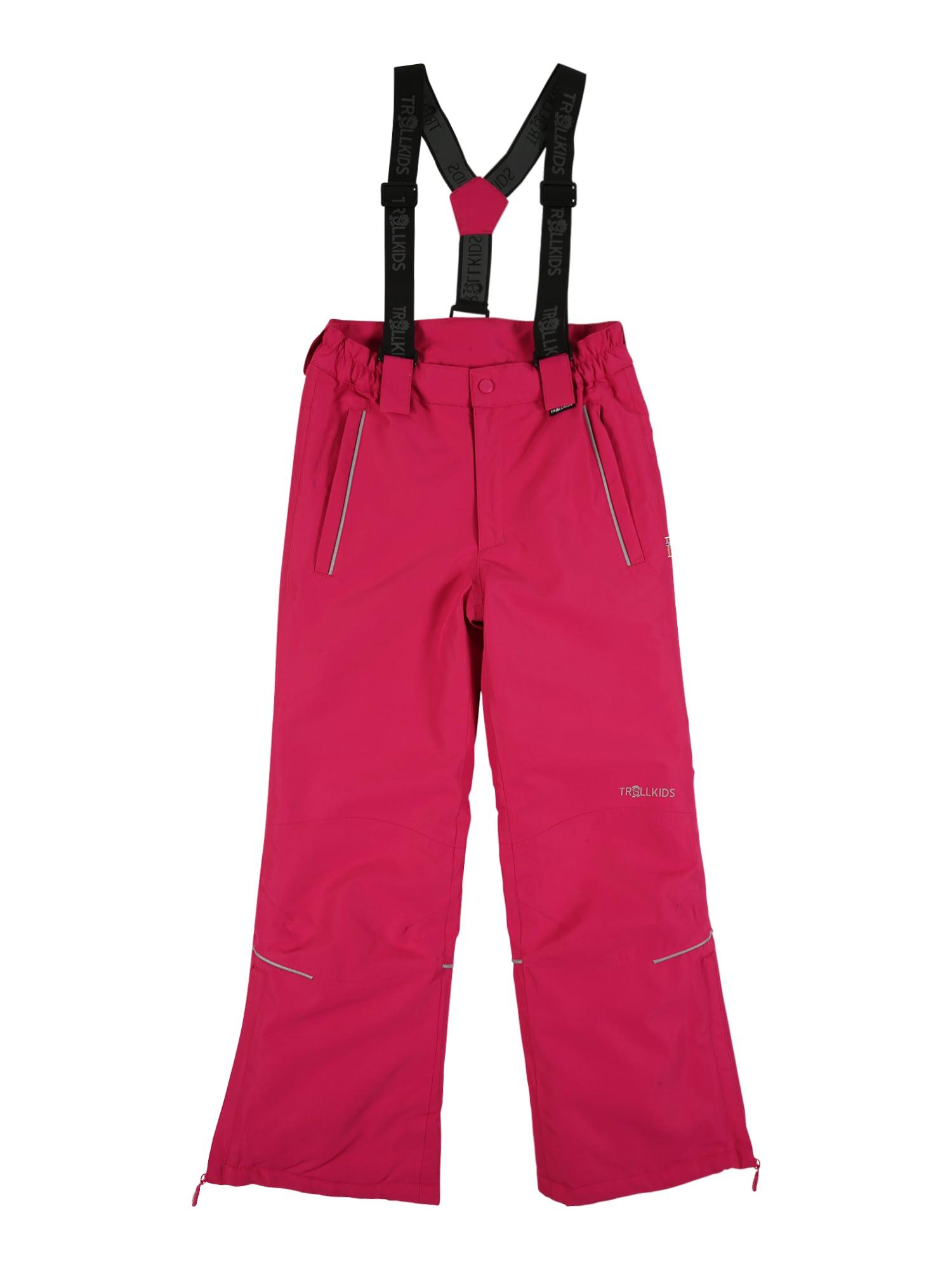 TROLLKIDS Outodoor kalhoty  pink / černá