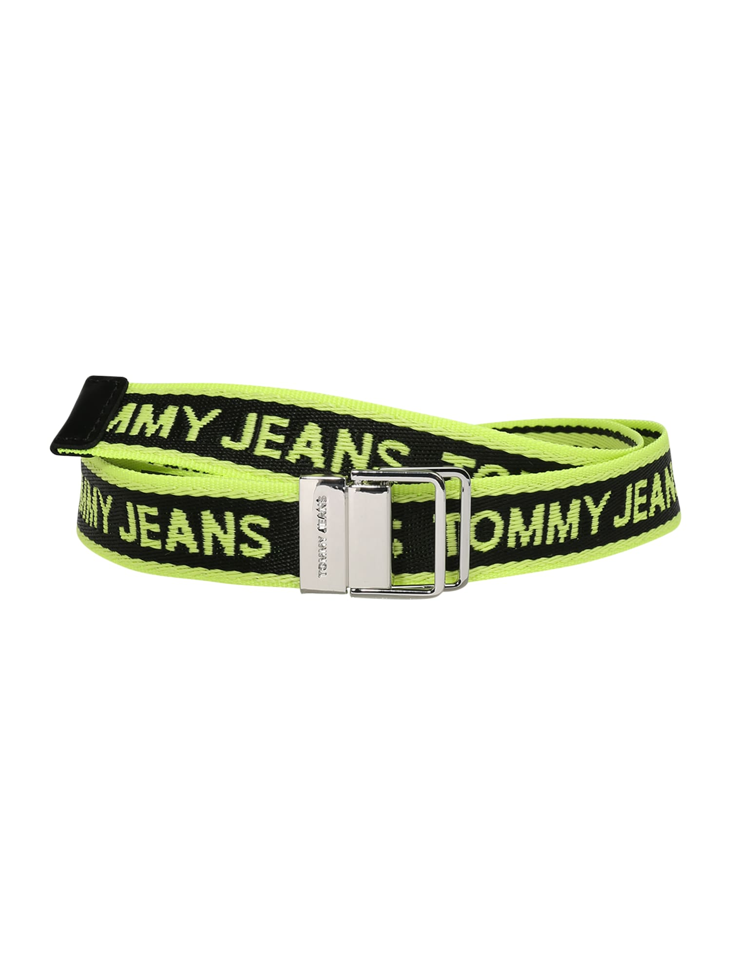 Tommy Jeans Diržas žaliosios citrinos spalva / juoda