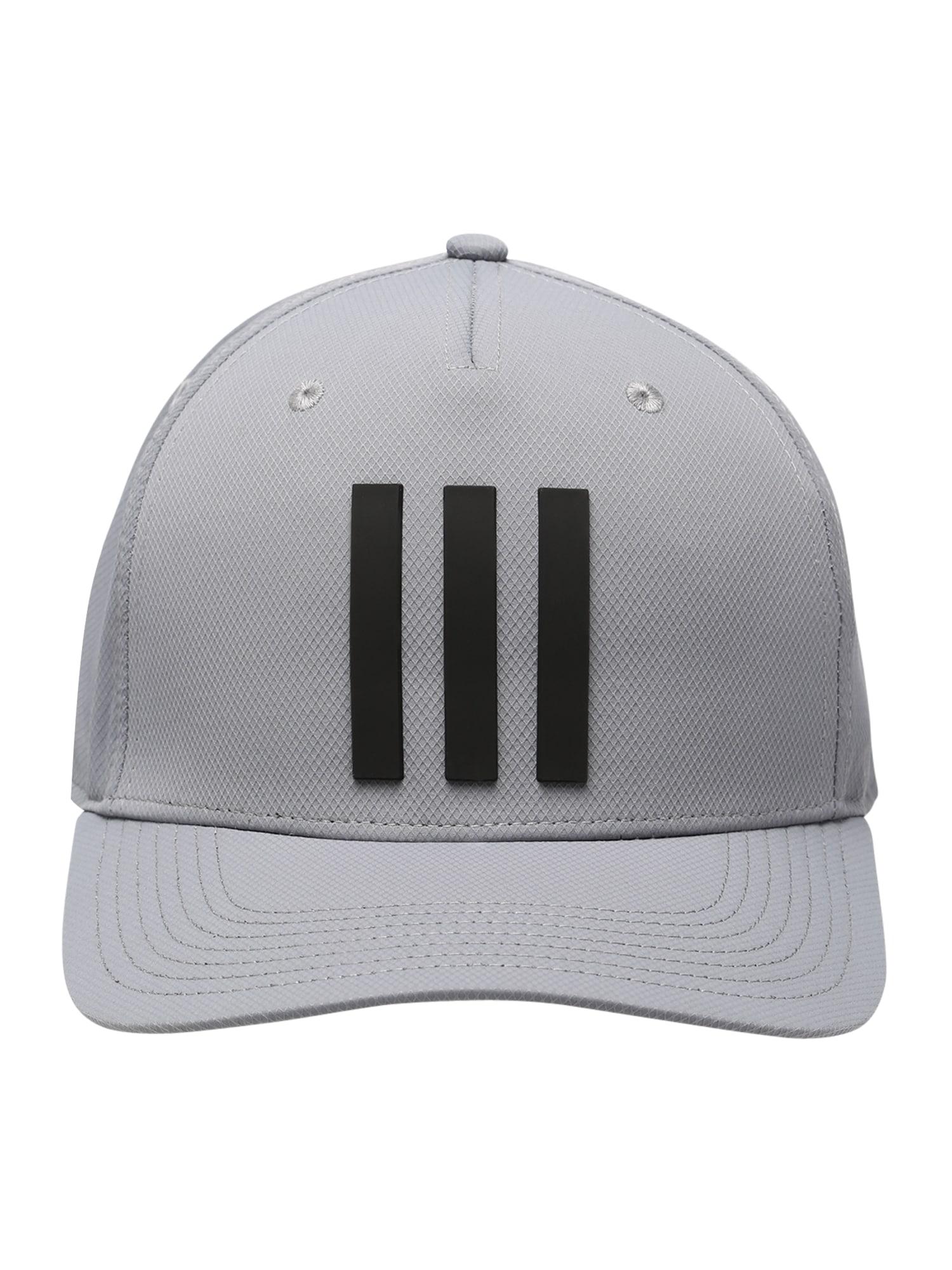 adidas Golf Sportinė kepurė pilka / juoda