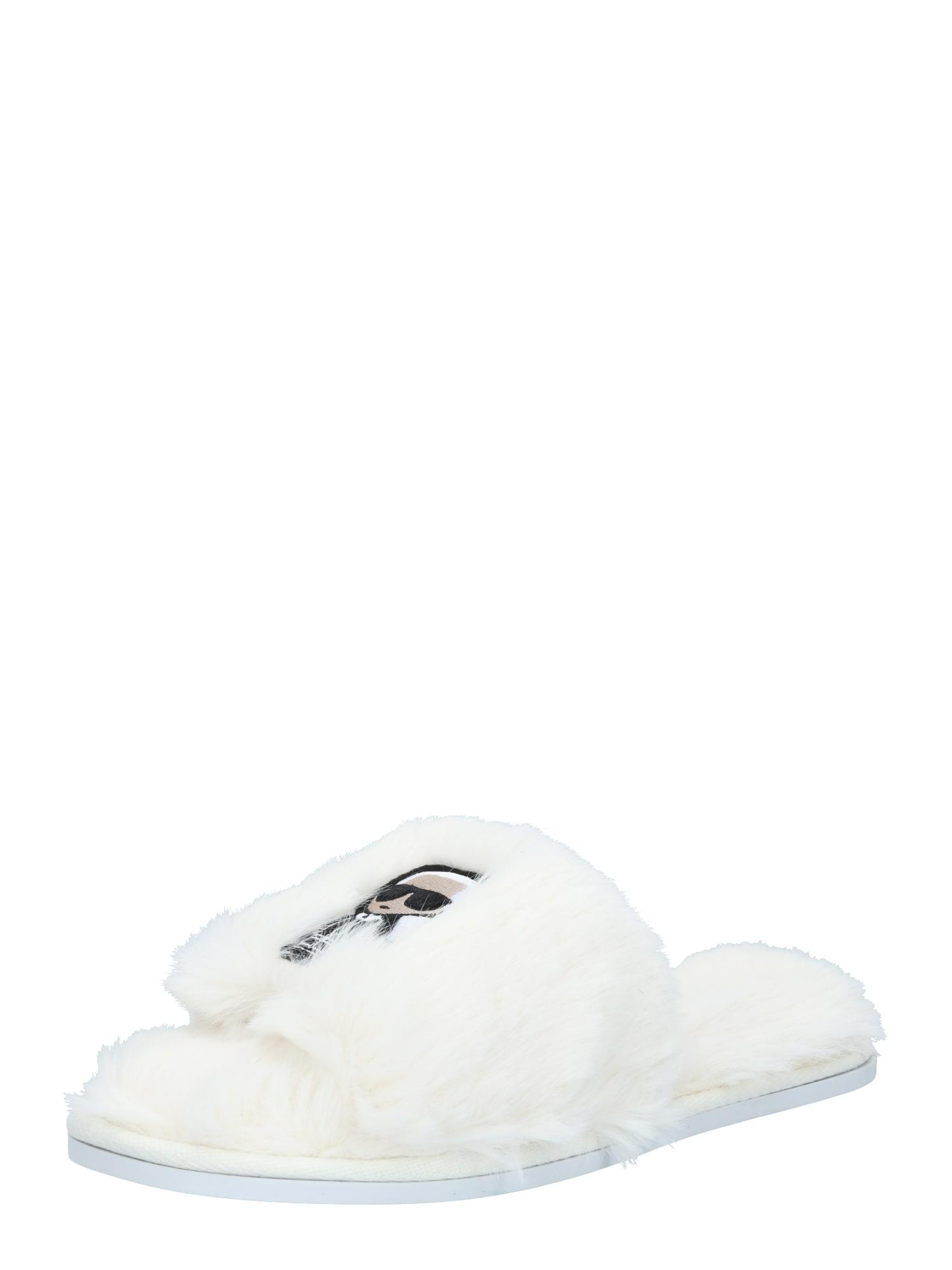 Karl Lagerfeld Pantofle 'Salotto II'  bílá