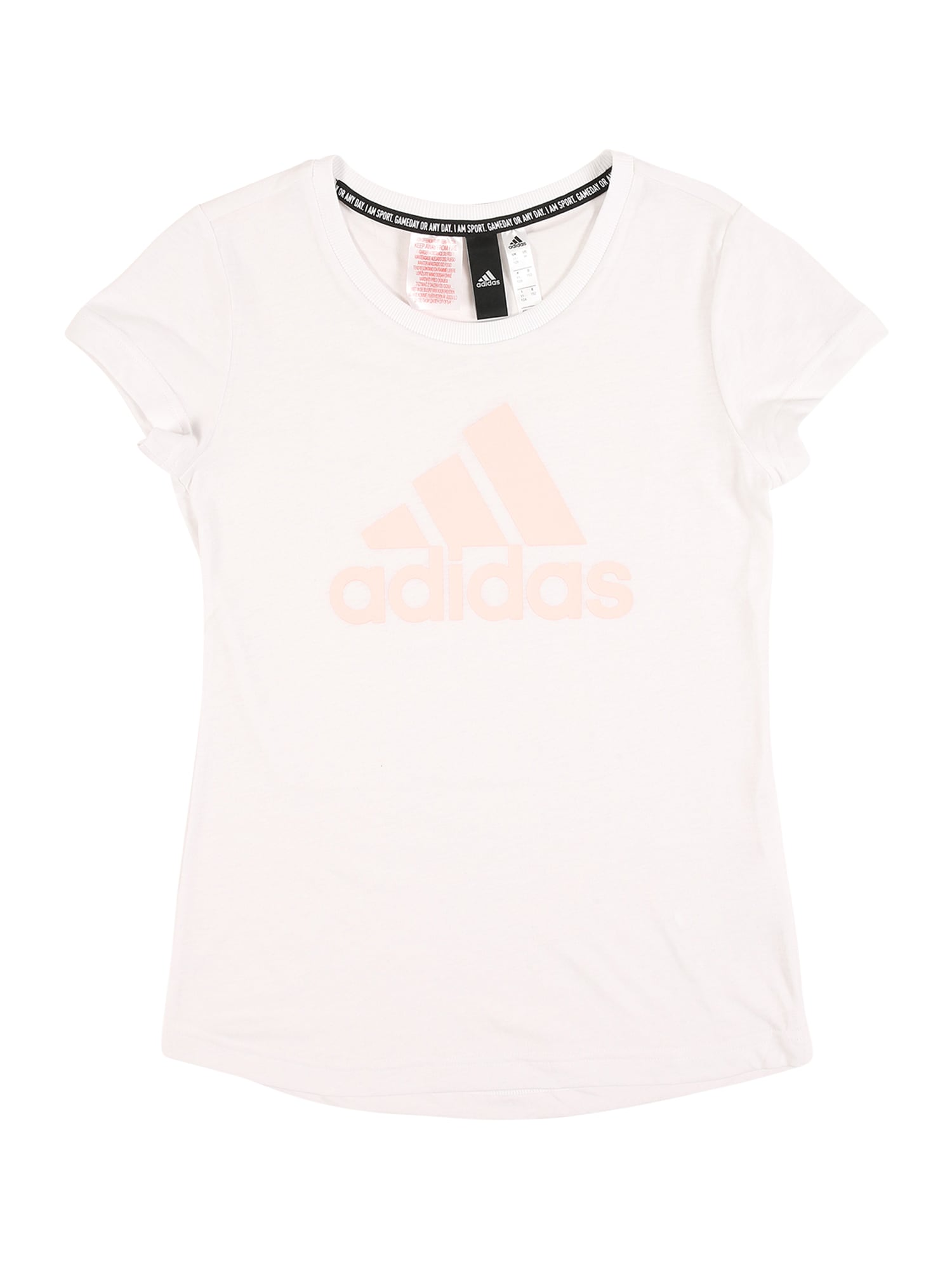 ADIDAS PERFORMANCE Funkční tričko 'YOUNG GIRLS MUST HAVE BATCH OF SPORT TEE'  bílá / pastelově růžová