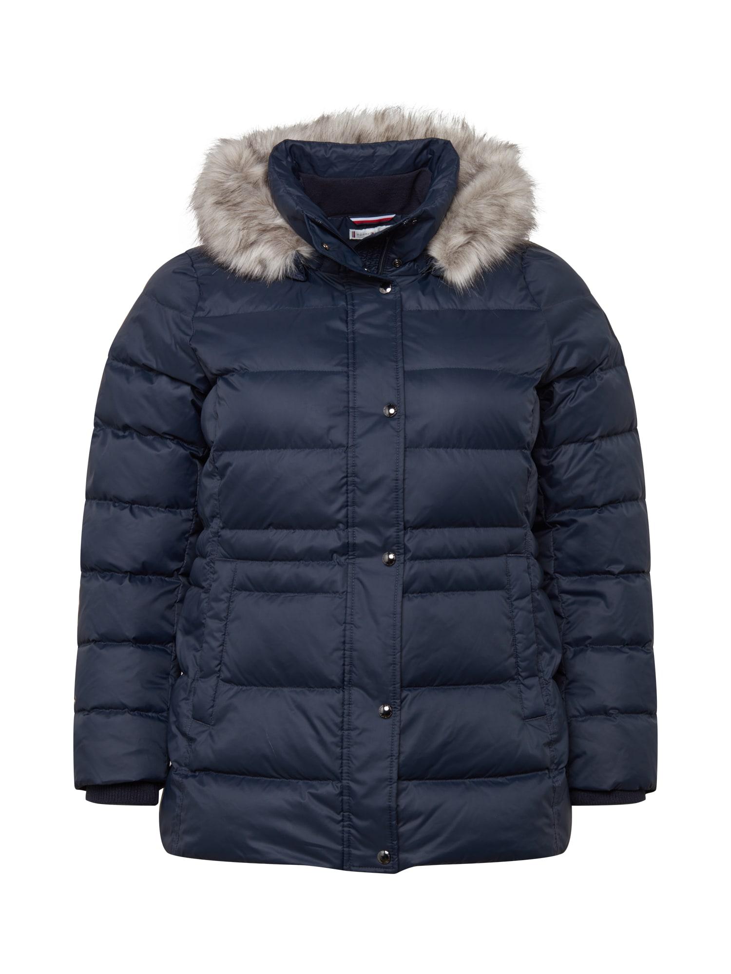 Tommy Hilfiger Curve Žieminė striukė tamsiai mėlyna