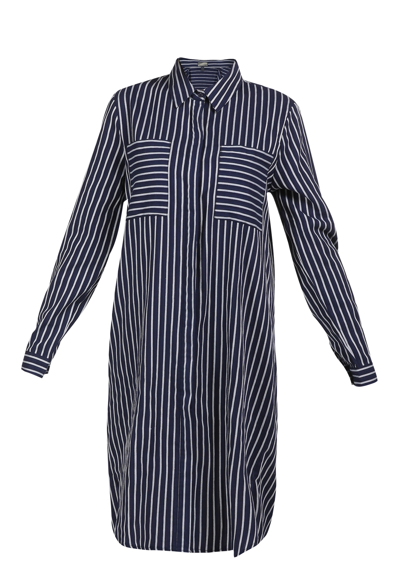 DreiMaster Vintage Palaidinės tipo suknelė tamsiai mėlyna / balta