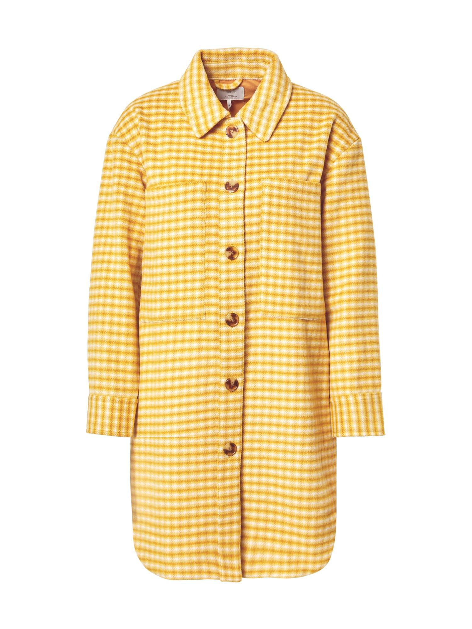NÜMPH Demisezoninis paltas geltona / balta