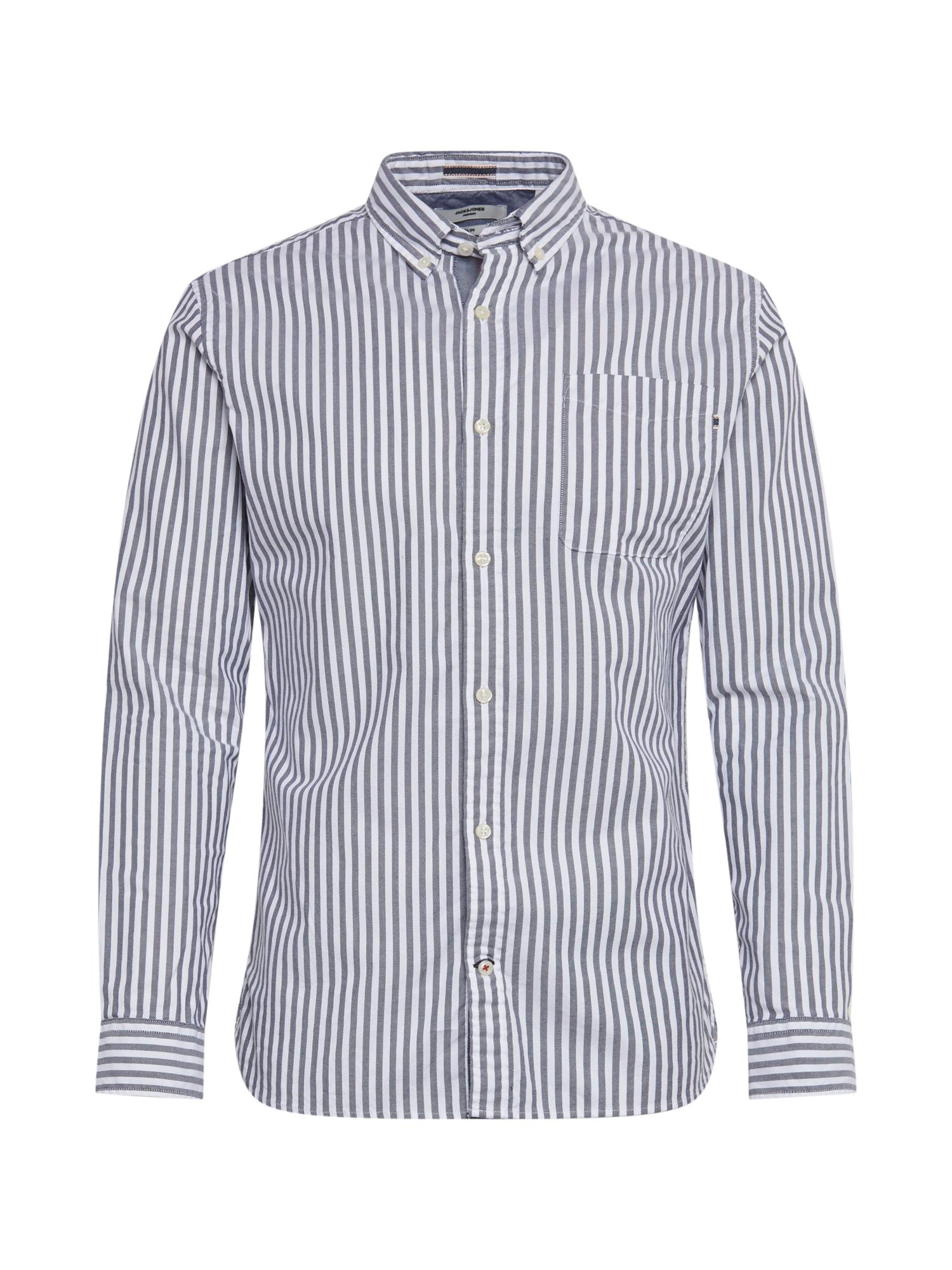 JACK & JONES Košile  námořnická modř / bílá