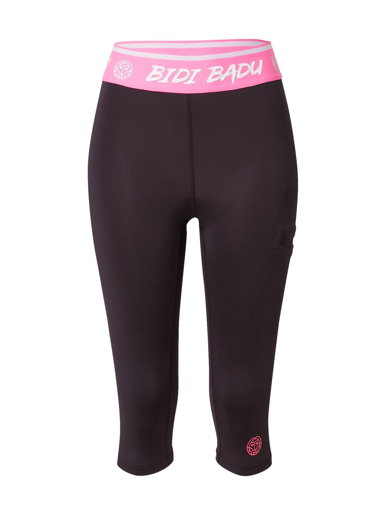 BIDI BADU Sportinės kelnės balta / rožinė / juoda