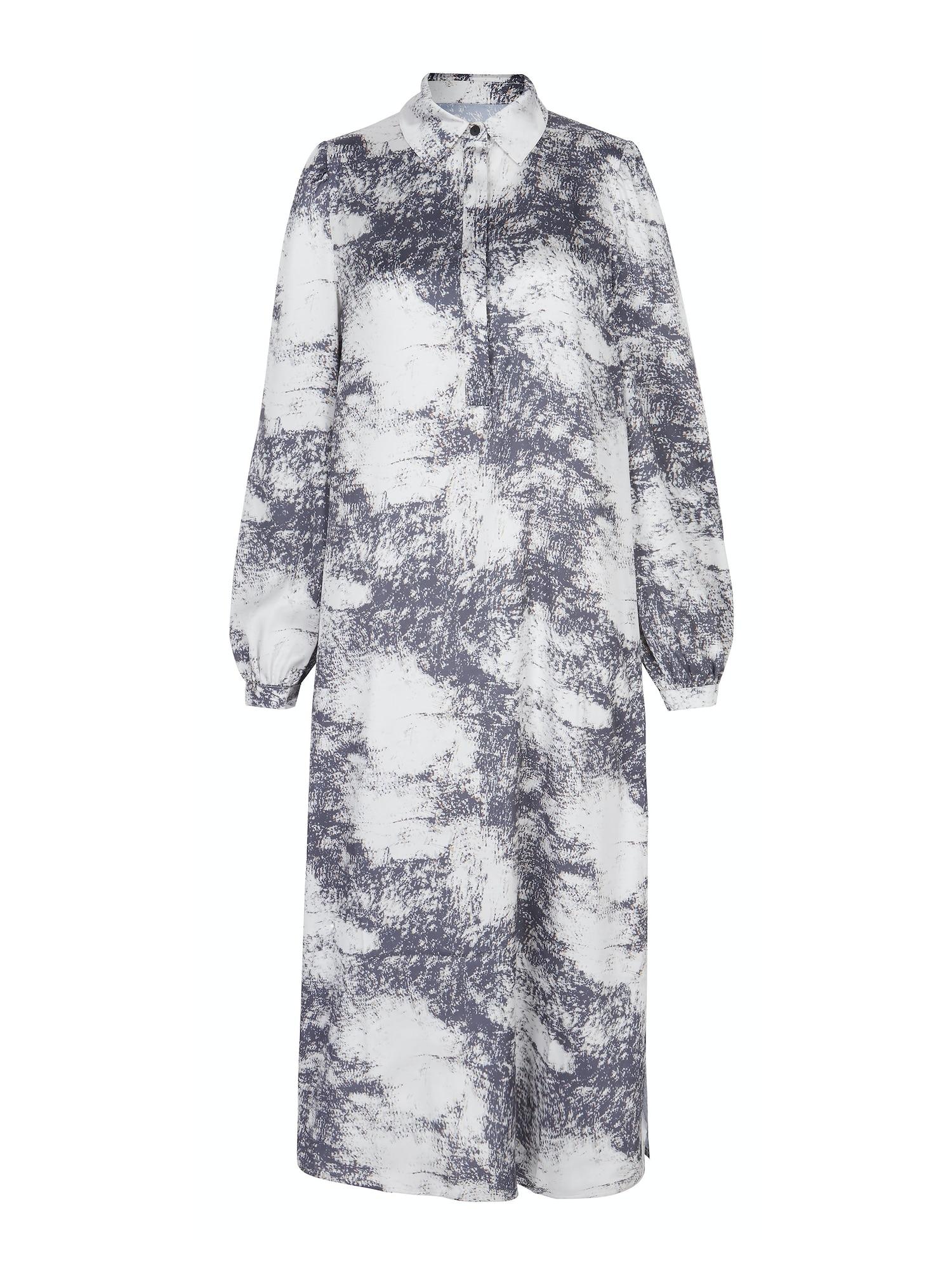 Aligne Palaidinės tipo suknelė 'Ceciliana' kremo / grafito / garstyčių spalva