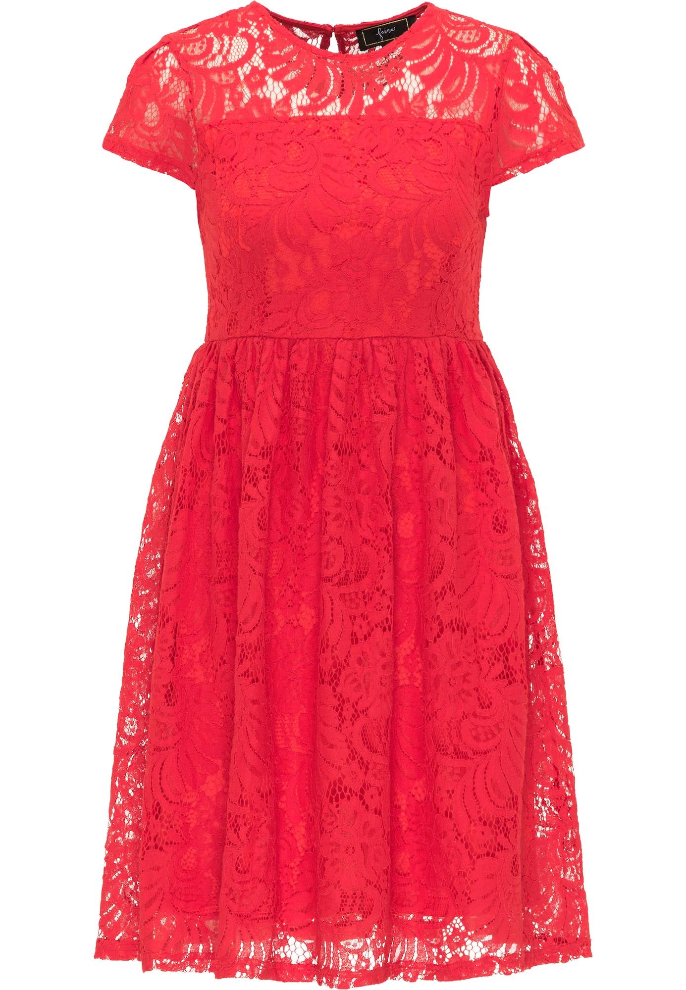 faina Kokteilinė suknelė raudona