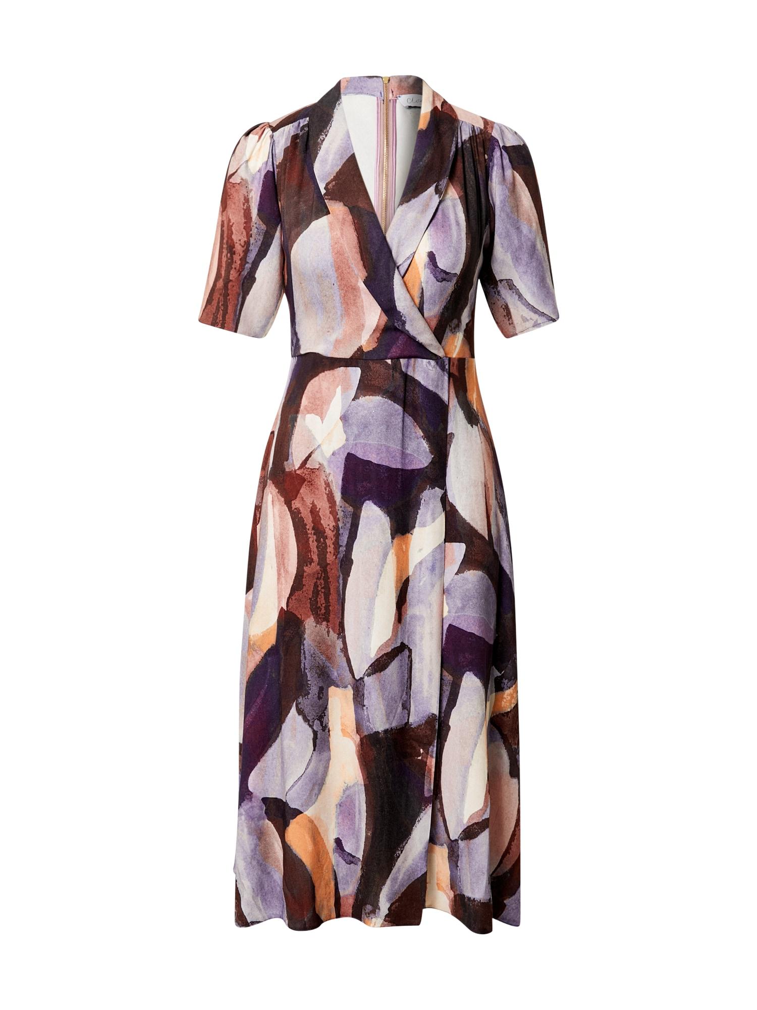 Closet London Suknelė purpurinė / smėlio / tamsiai violetinė