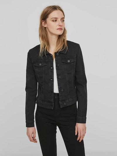 Noisy May Debra schwarze Essential-Jeansjacke mit langen Ärmeln
