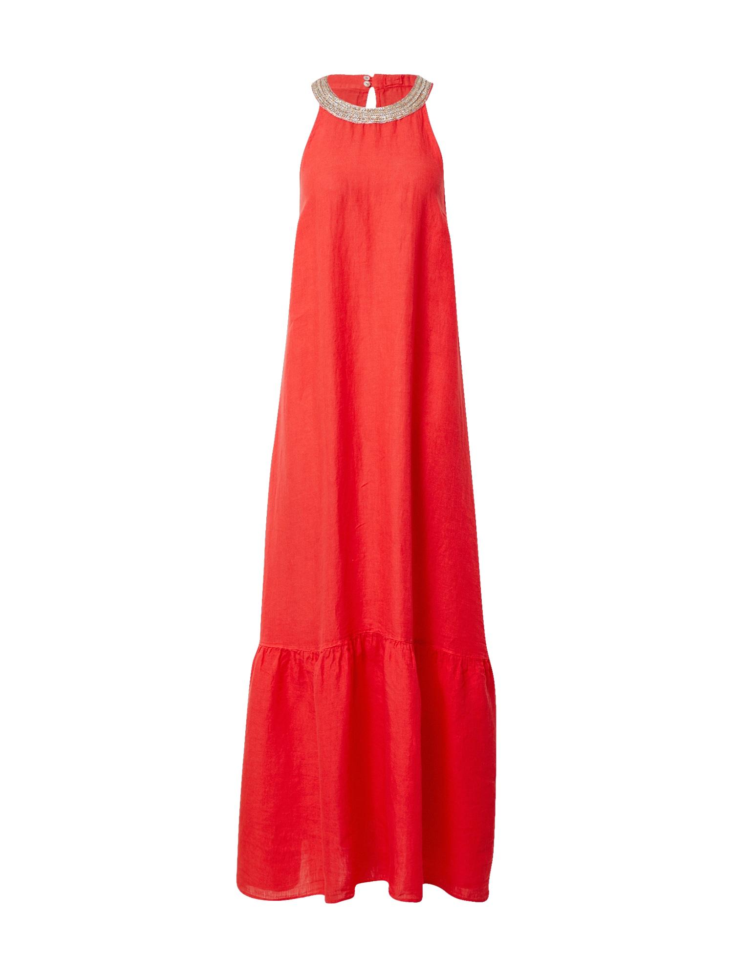 120% Lino Suknelė omarų spalva