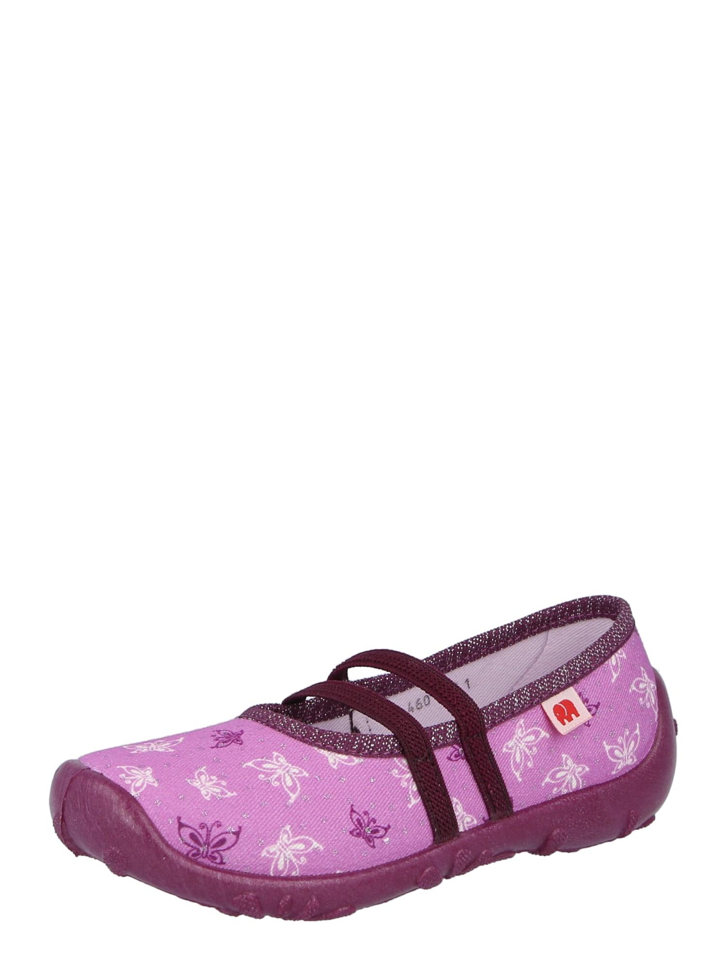 ELEFANTEN Naminės šlepetės šviesiai violetinė / tamsiai violetinė / balta