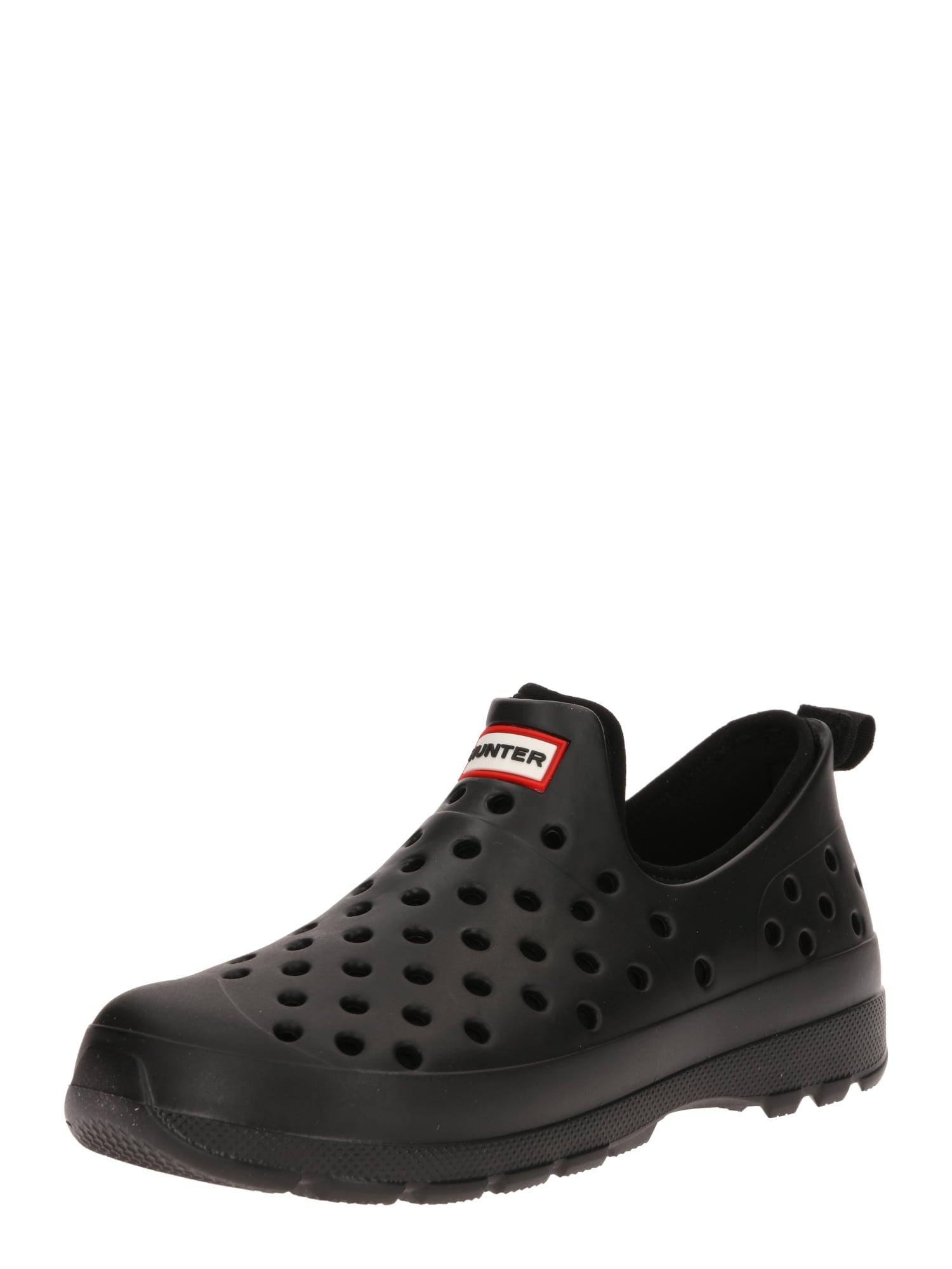 HUNTER Guminiai batai juoda / raudona / balta