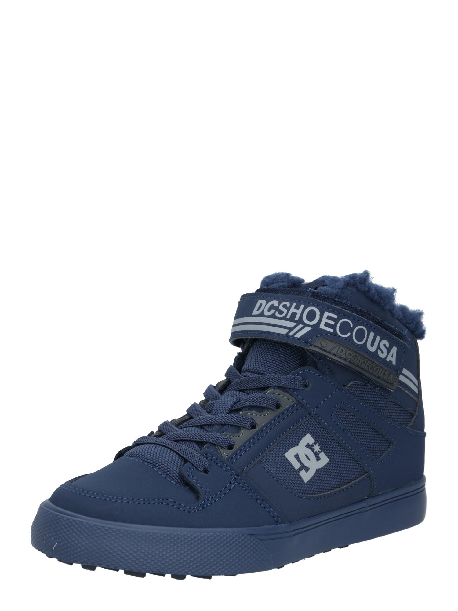 DC Shoes Auliniai batai su kulniuku pilka / tamsiai mėlyna