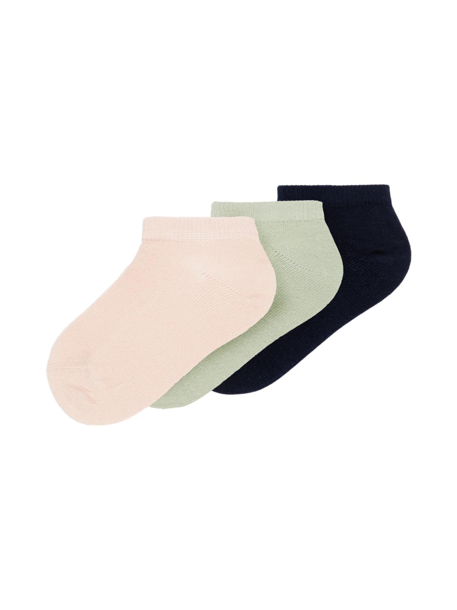 NAME IT Kojinės 'Vilma' pastelinė žalia / pastelinė rožinė / nakties mėlyna