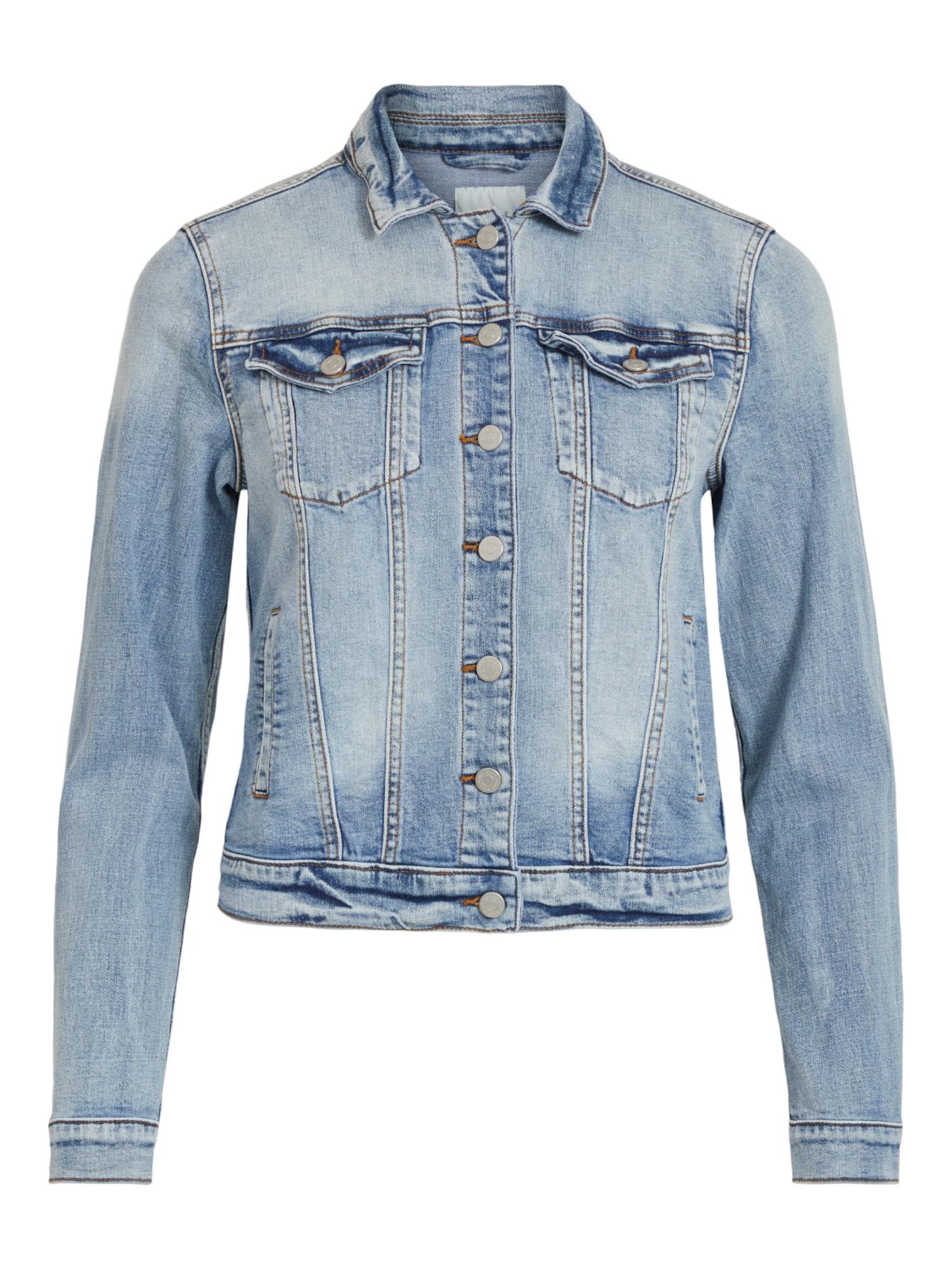 VILA Demisezoninė striukė tamsiai (džinso) mėlyna