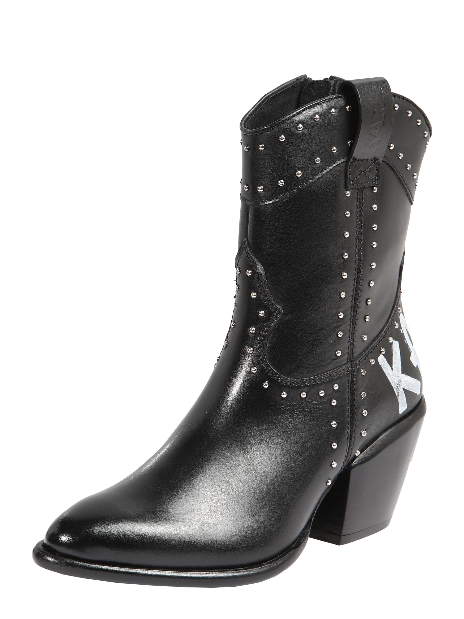 Karl Lagerfeld Kovbojské boty 'Kavalier II'  černá