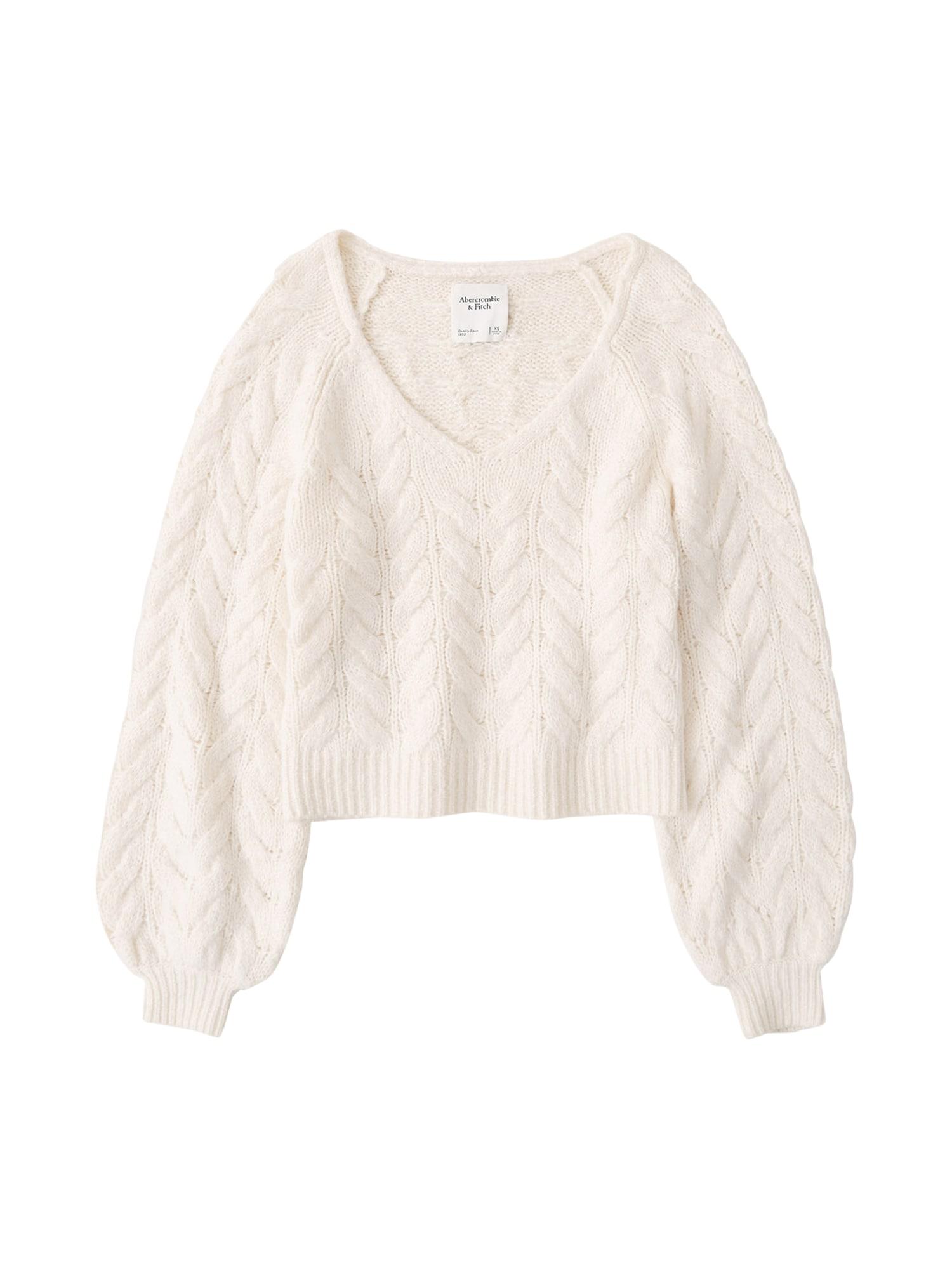 Abercrombie & Fitch Megztinis kremo