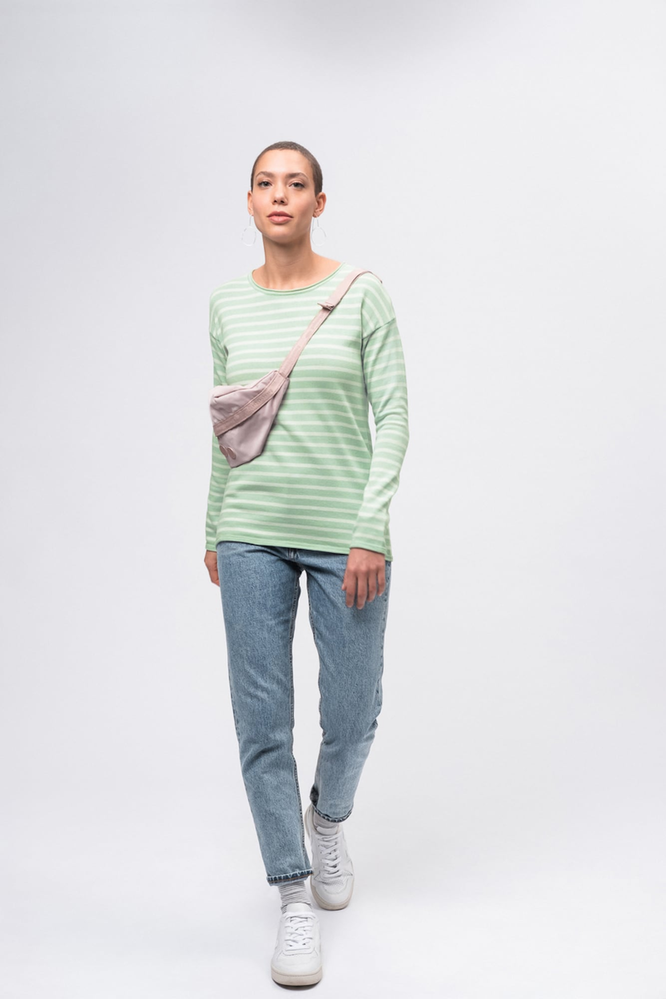 recolution - Strickpullover Knit Crew Neck STRIPED