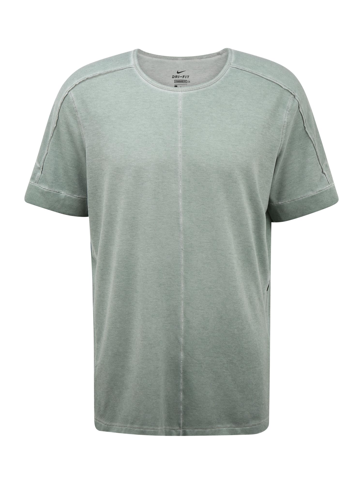 NIKE Funkční tričko  černá / khaki