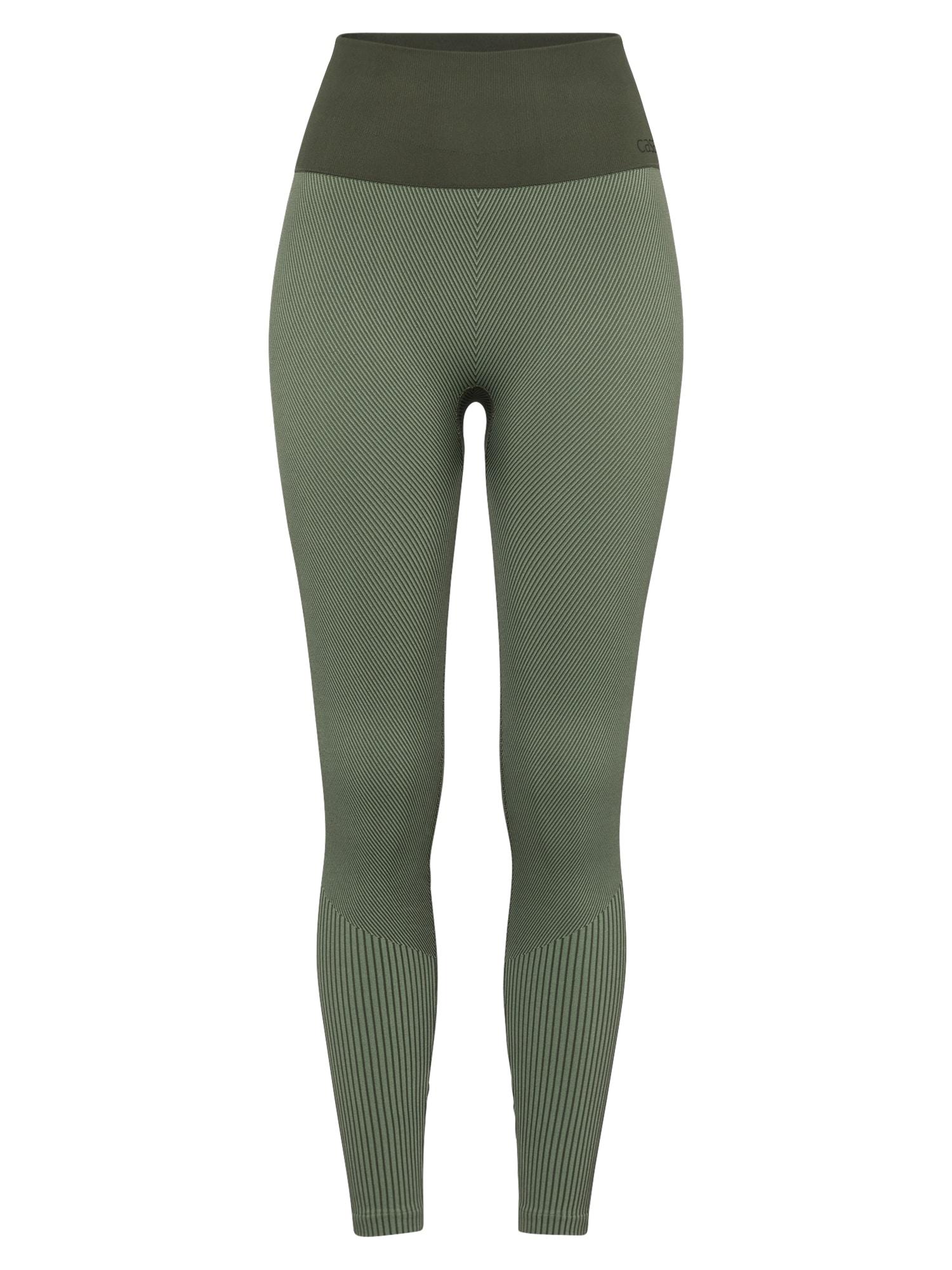 Casall Sportinės kelnės alyvuogių spalva / rusvai žalia