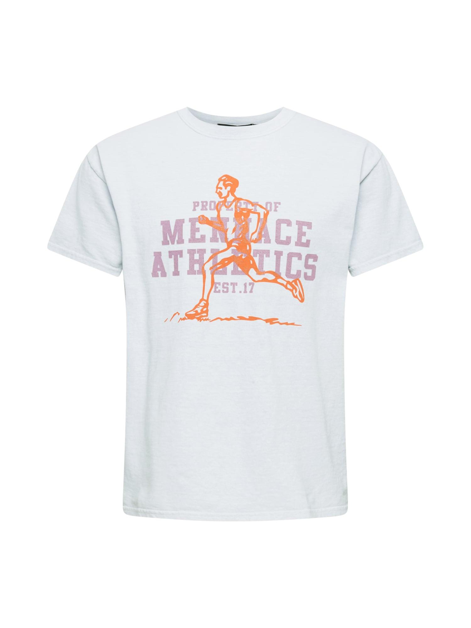 Mennace Marškinėliai šviesiai pilka / oranžinė / rausvai violetinė spalva