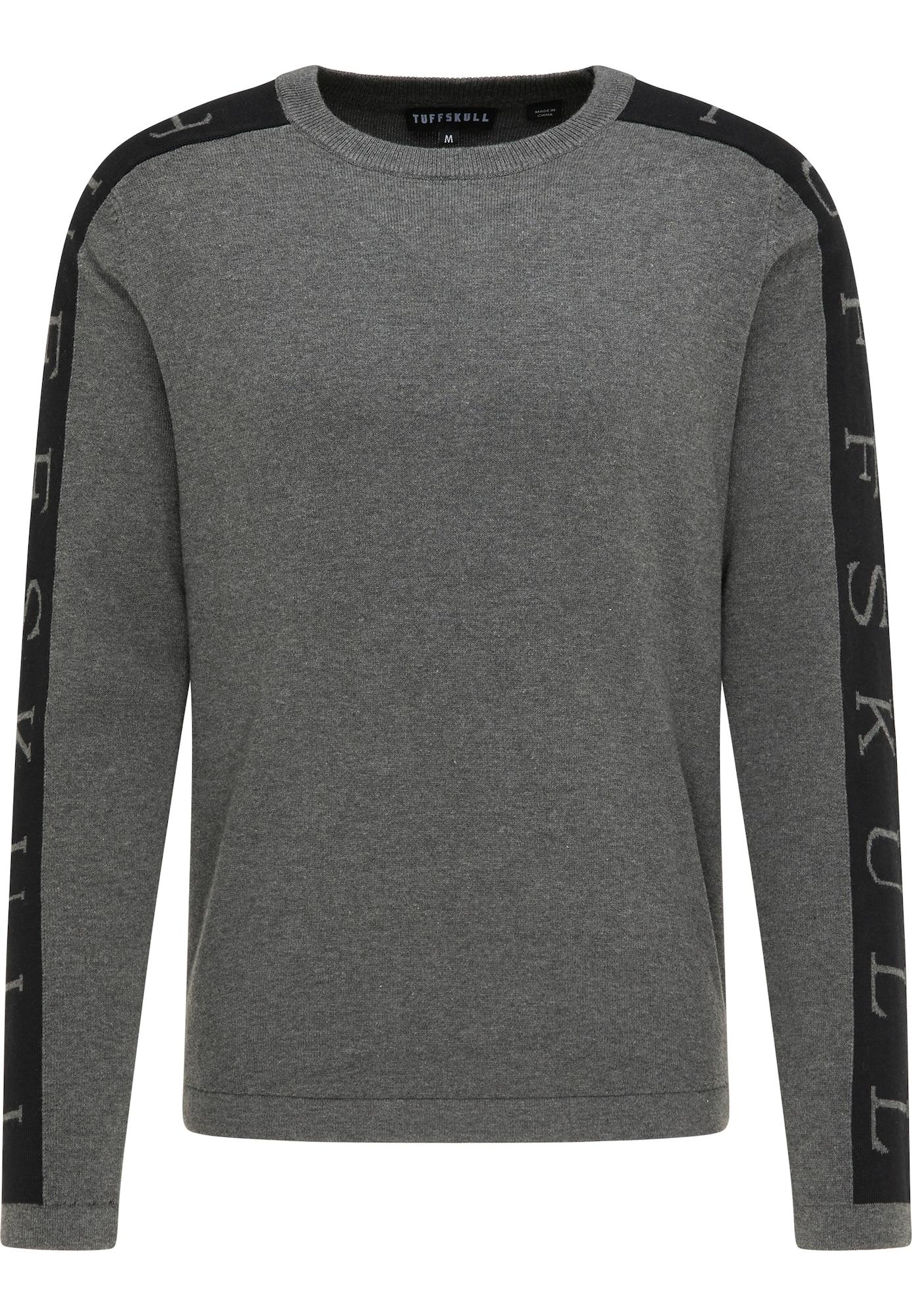 TUFFSKULL Megztinis juoda / margai pilka