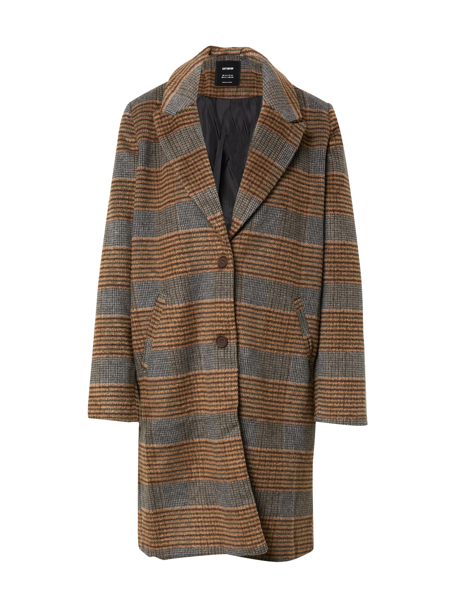 Cotton On Demisezoninis paltas ruda / pilka