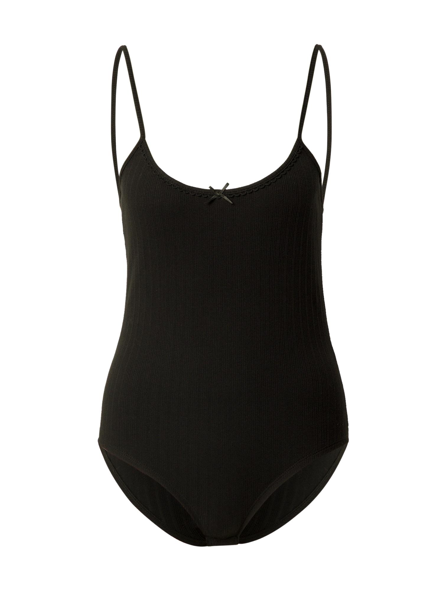 Grace & Mila Marškinėliai-glaustinukė 'CARAMEL' juoda