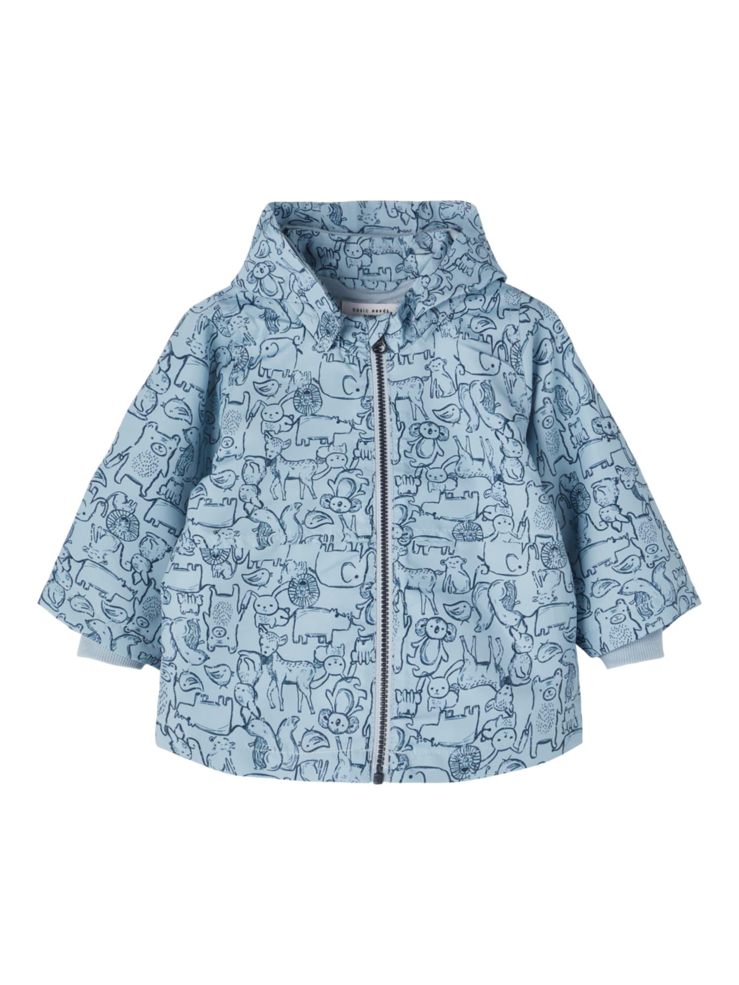 NAME IT Žieminė striukė 'Max' mėlyna dūmų spalva / mėlyna