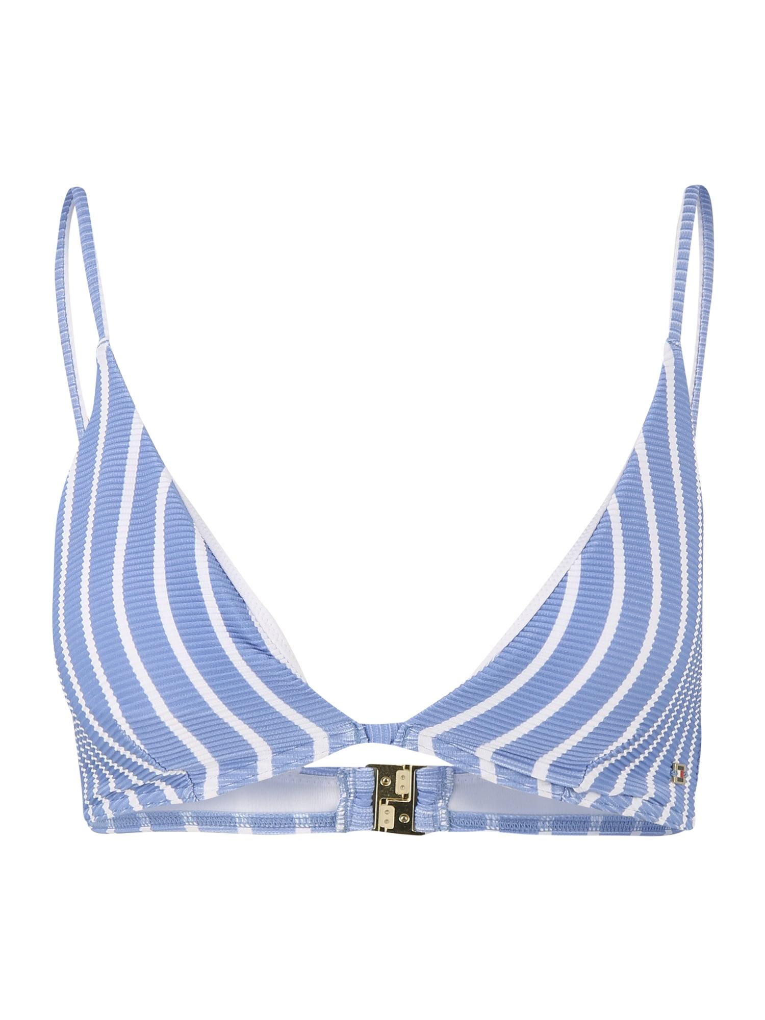Tommy Hilfiger Underwear Bikinio viršutinė dalis mėlyna dūmų spalva / balta