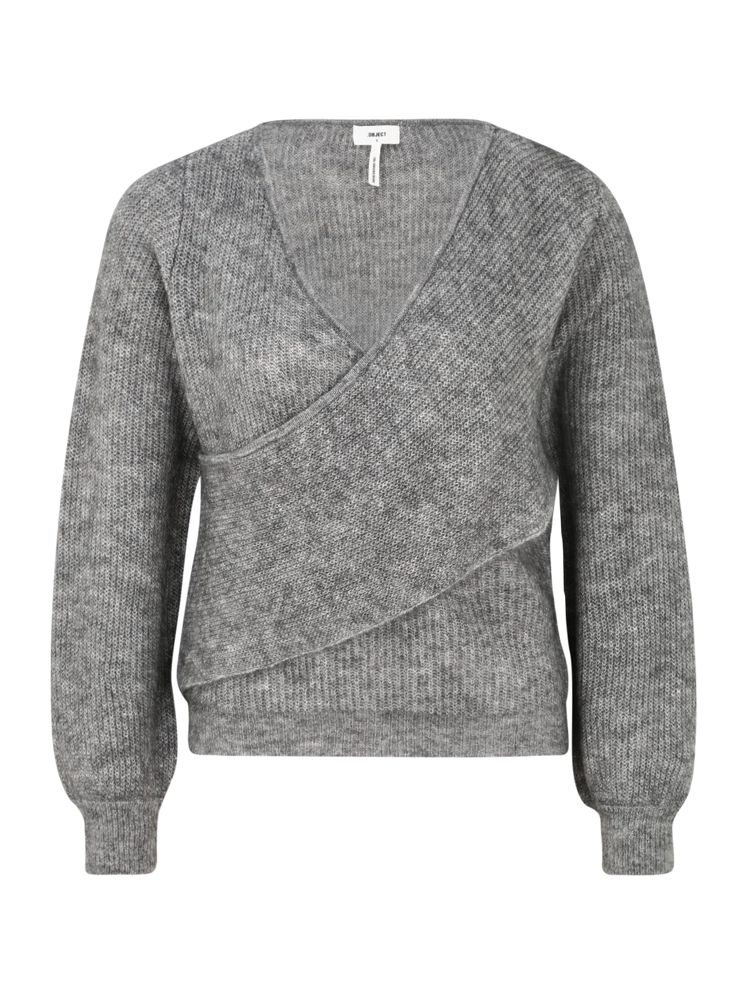 OBJECT (Petite) Megztinis margai pilka