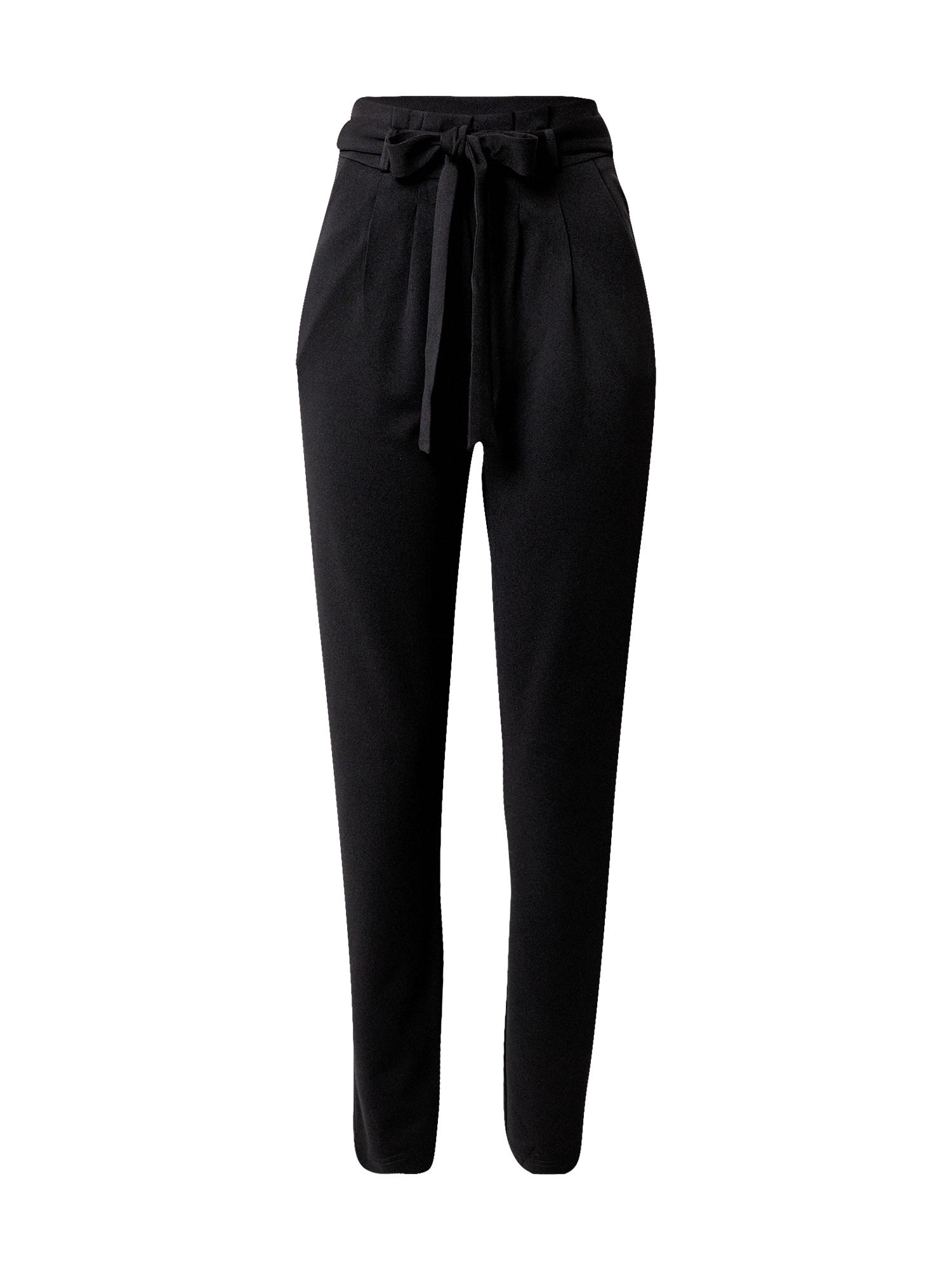 JACQUELINE de YONG Klostuotos kelnės juoda