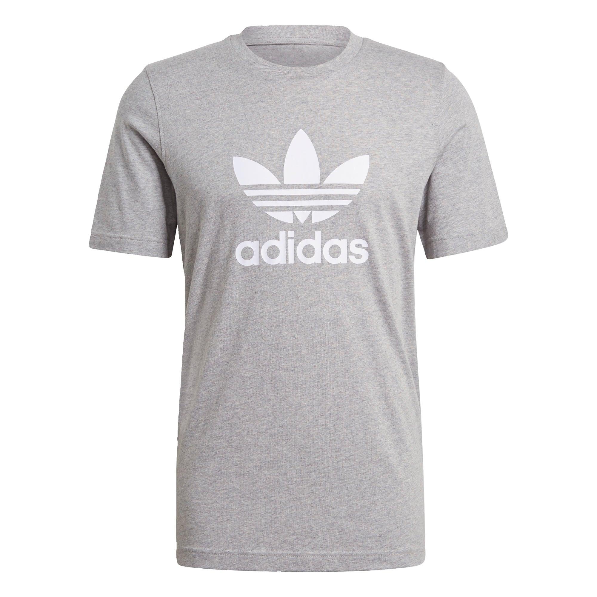 ADIDAS ORIGINALS Marškinėliai šviesiai pilka / balta