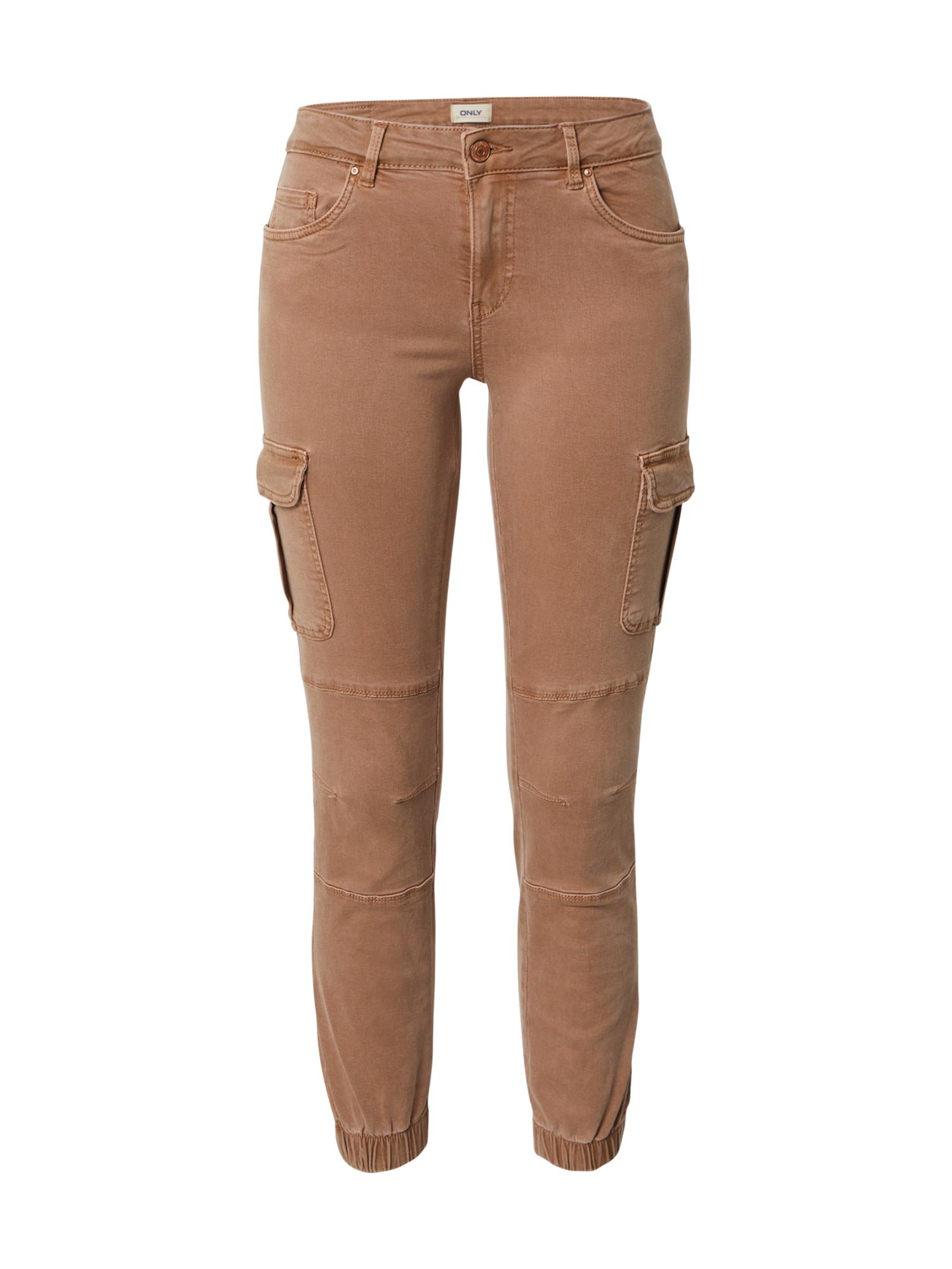 ONLY Darbinio stiliaus džinsai tamsi smėlio