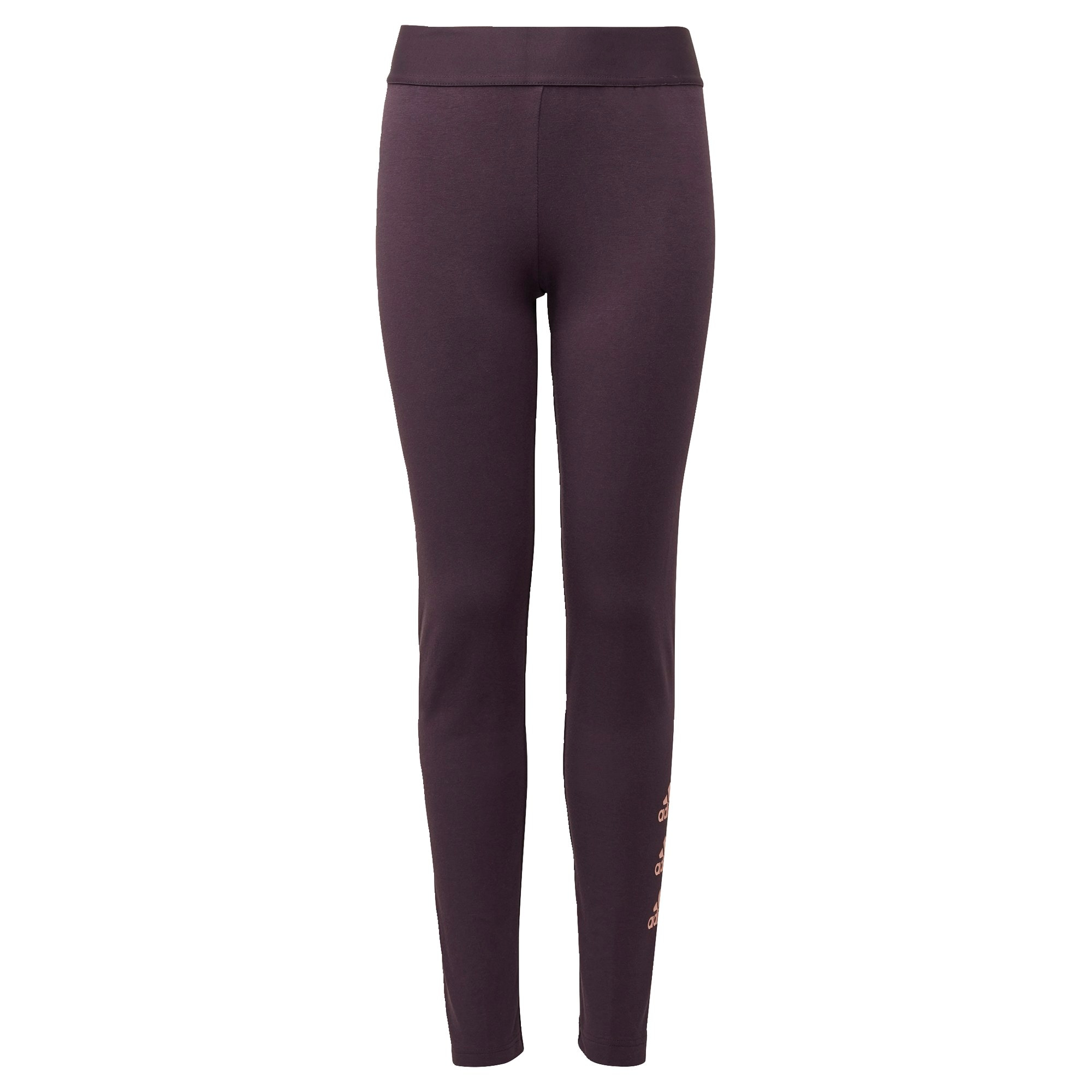 ADIDAS PERFORMANCE Sportinės kelnės tamsiai violetinė / šviesiai oranžinė
