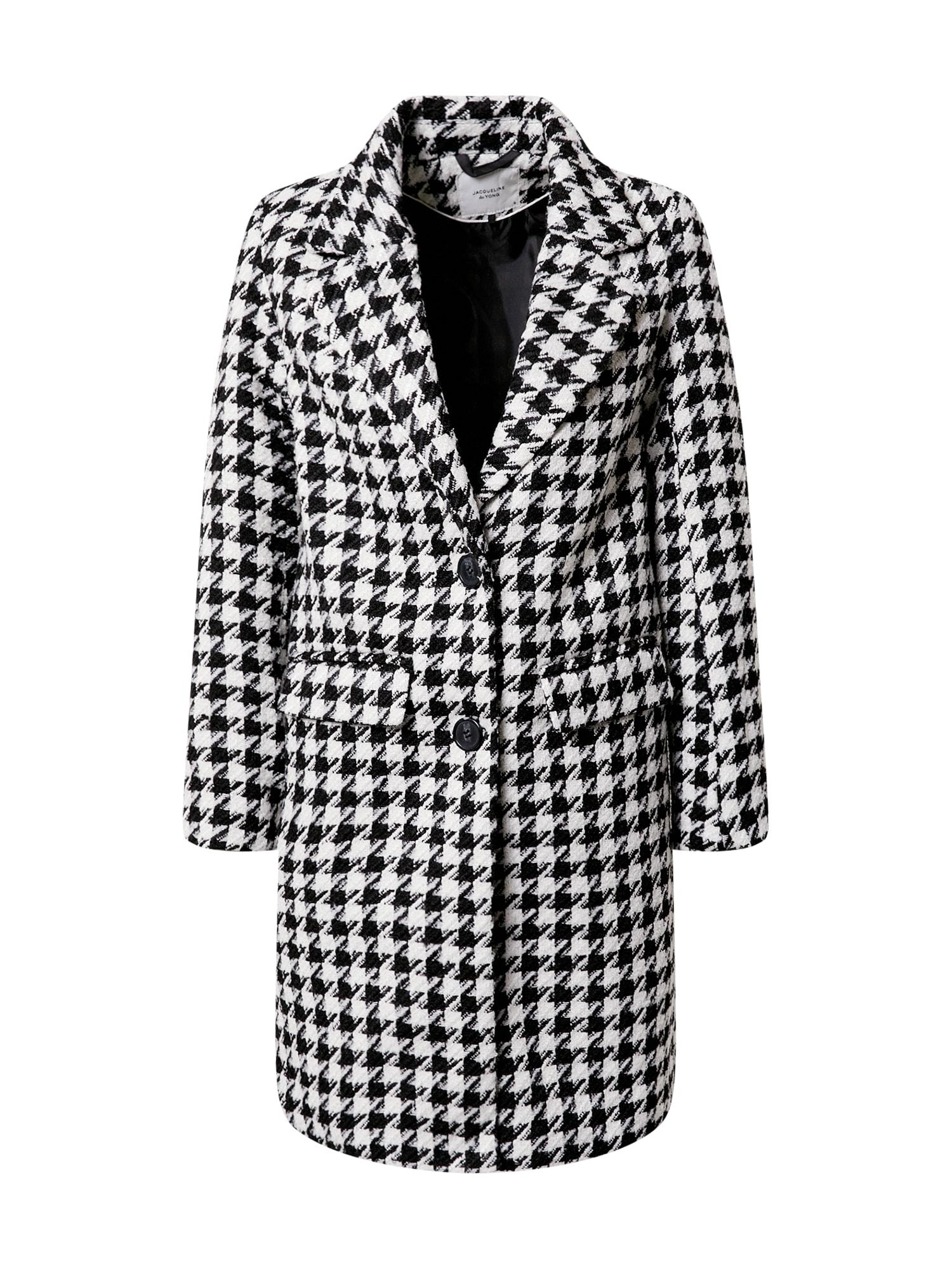 JACQUELINE de YONG Demisezoninis paltas juoda / balta