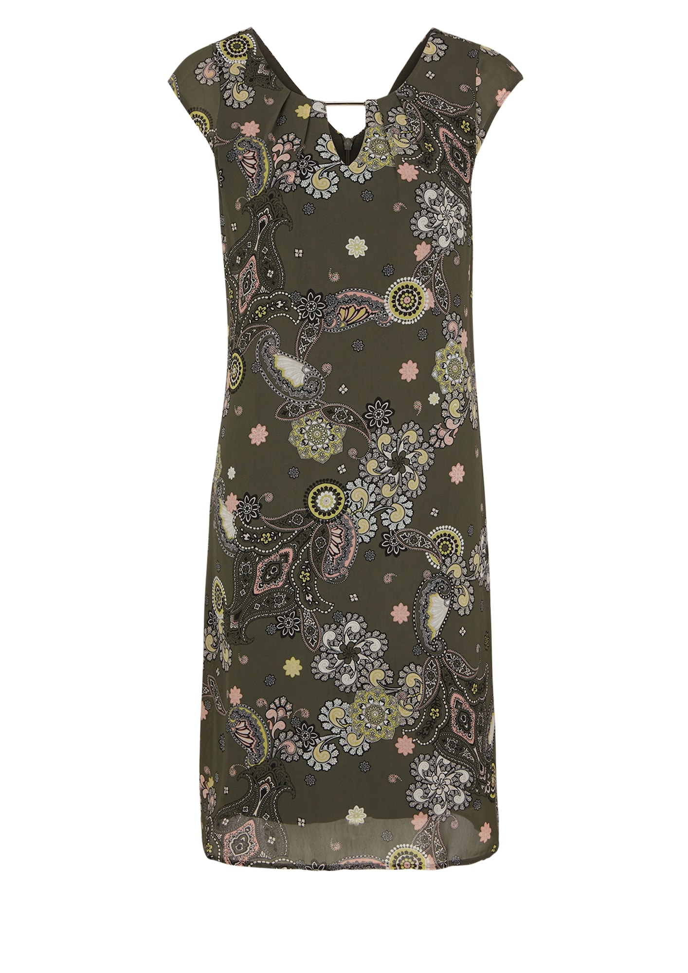s.Oliver BLACK LABEL Šaty  kaki / zmiešané farby