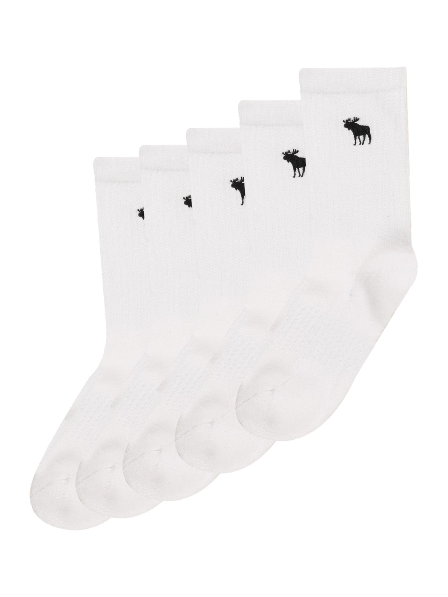 Abercrombie & Fitch Ponožky  bílá / černá