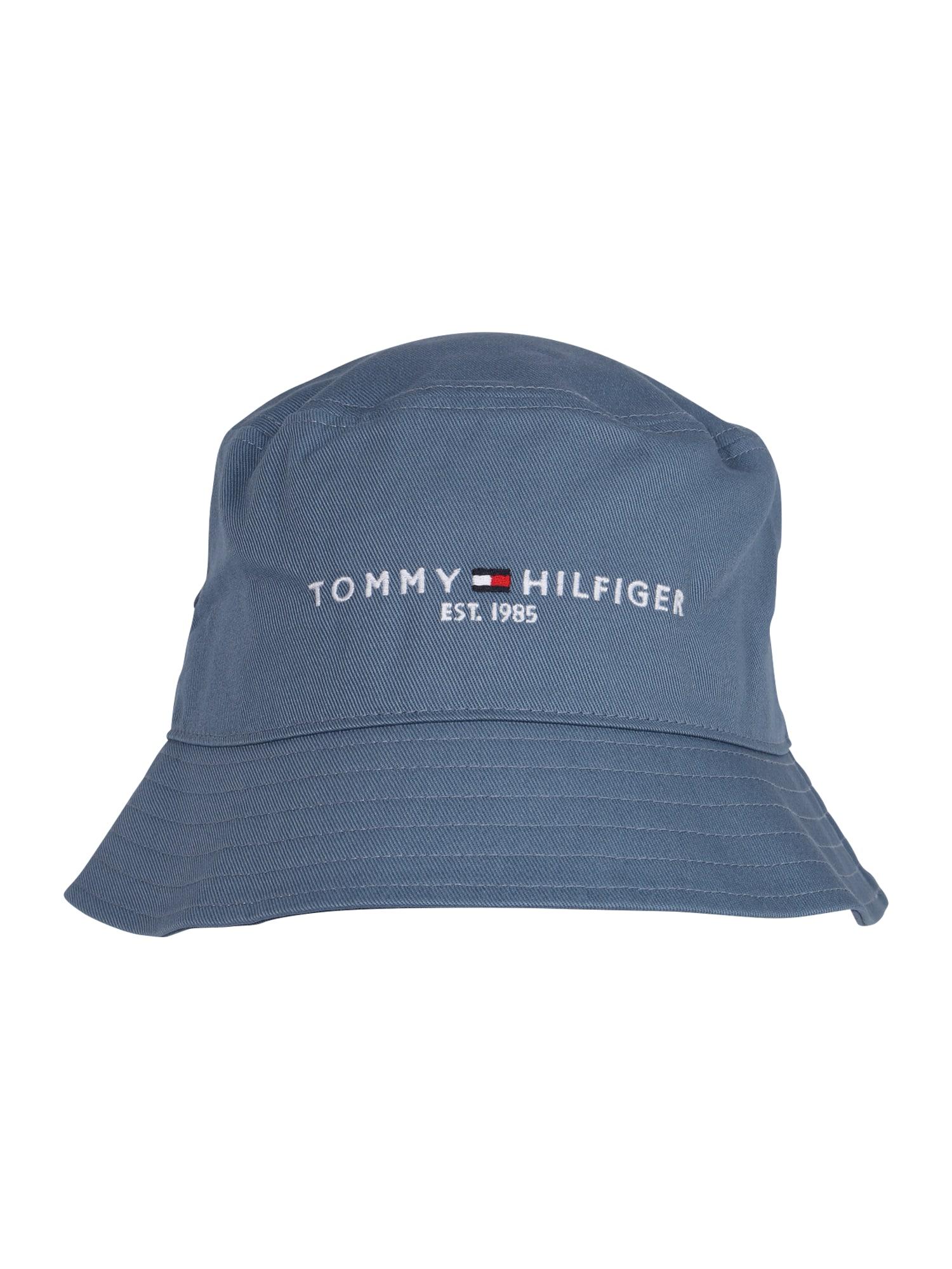 TOMMY HILFIGER Skrybėlaitė mėlyna dūmų spalva / balta / tamsiai mėlyna / šviesiai raudona