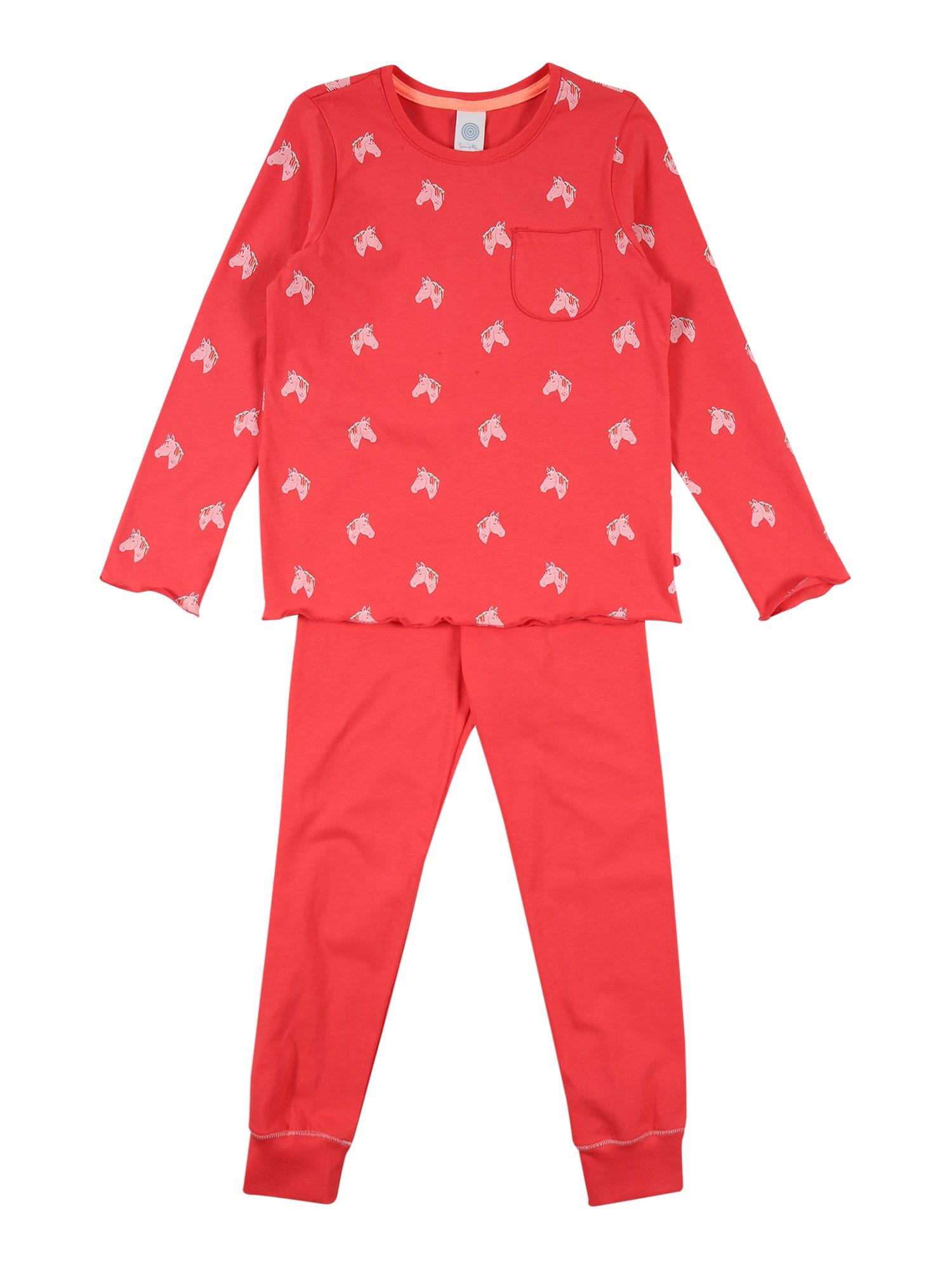 SANETTA Miego kostiumas lašišų spalva / rožių spalva / turkio spalva
