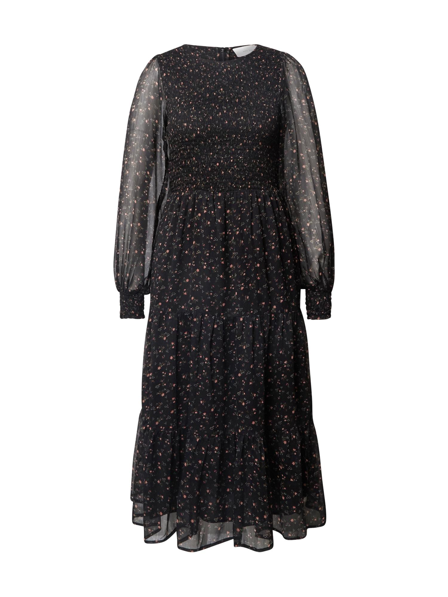 Neo Noir Kokteilinė suknelė juoda / rožių spalva / žalia